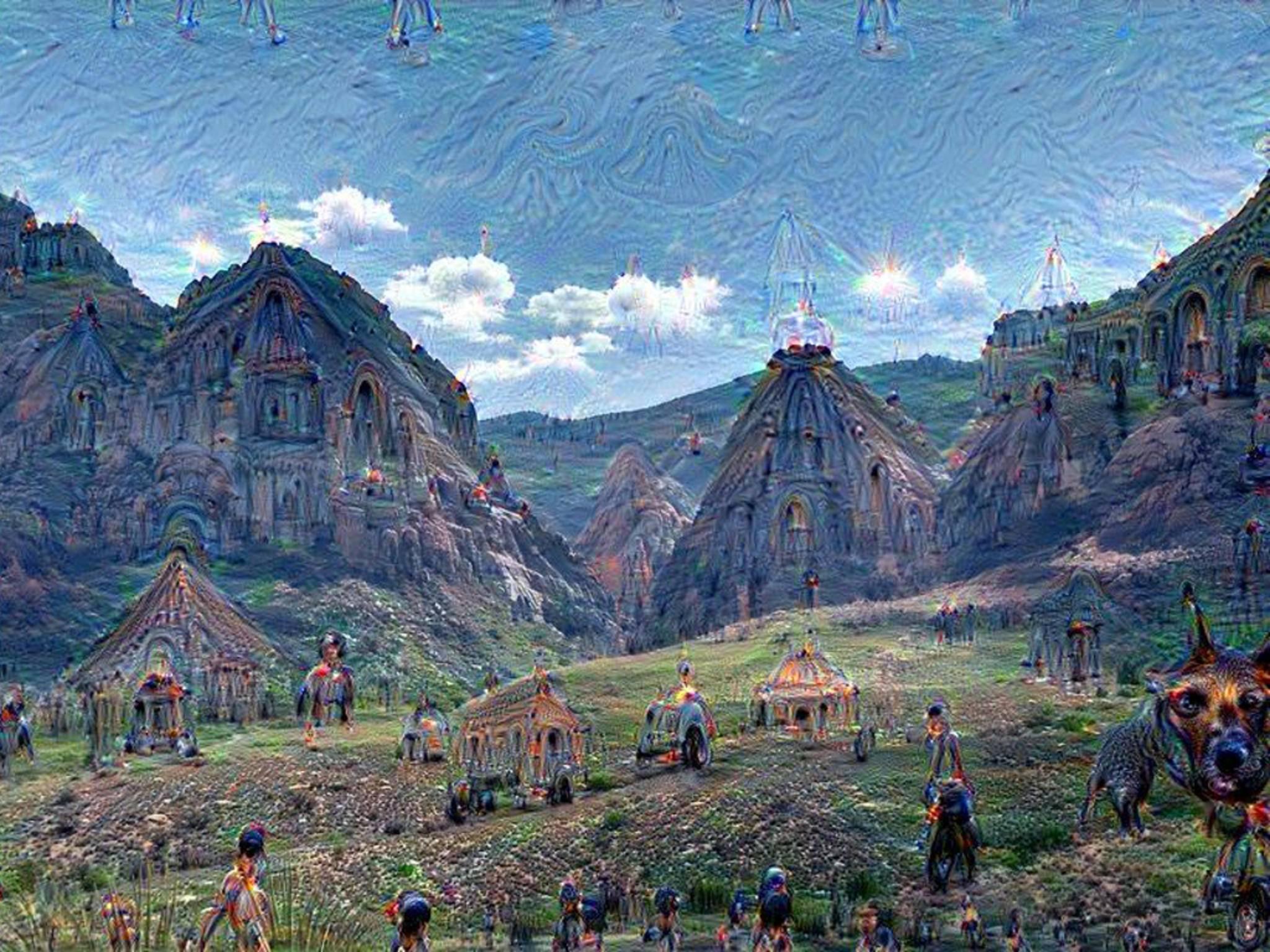 Ein Google-Programm verwandelte Fotos in psychedelische Kunst.
