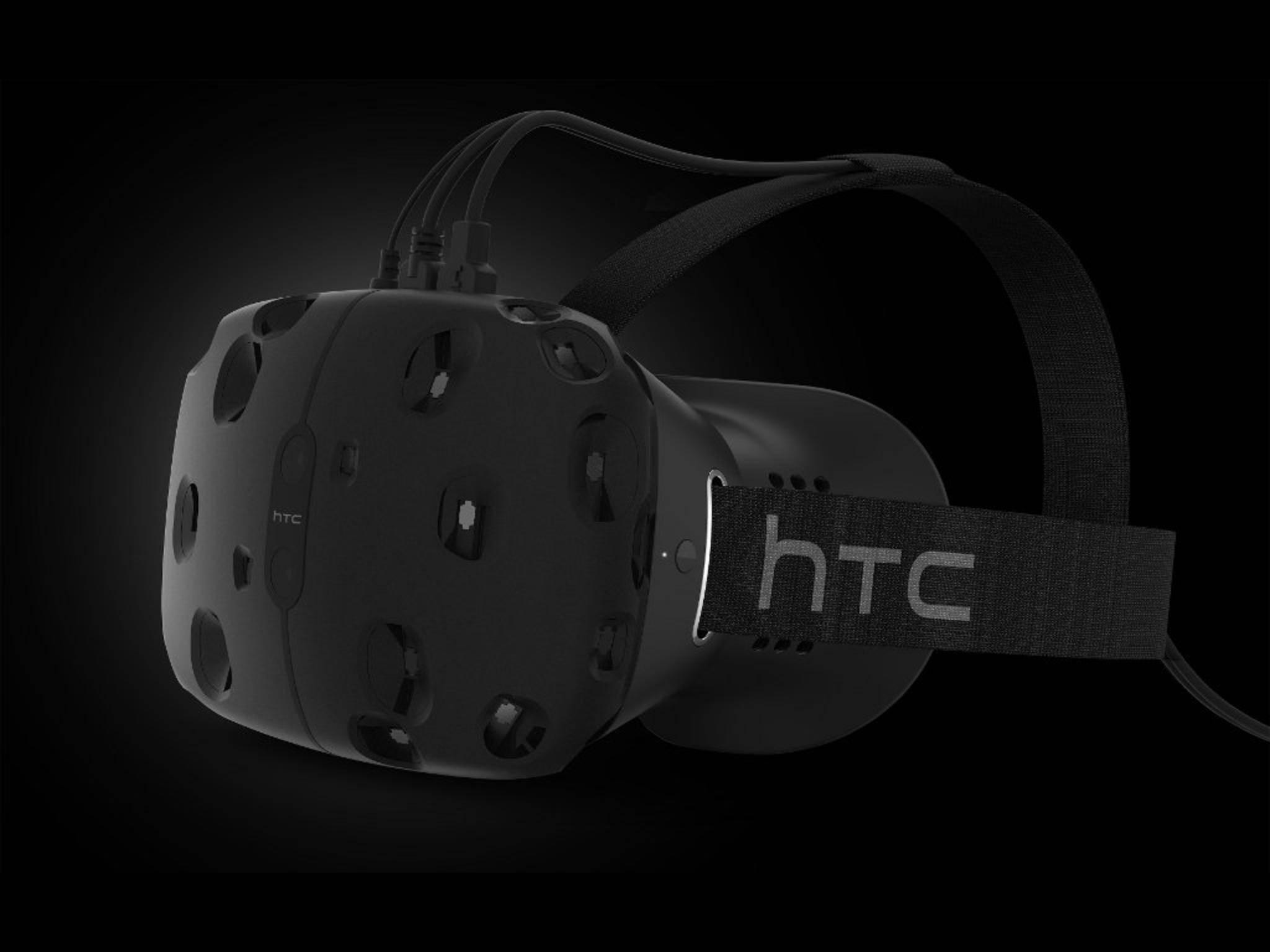 Die HTC Vive soll als VR-Brille für Computerspiele dienen.