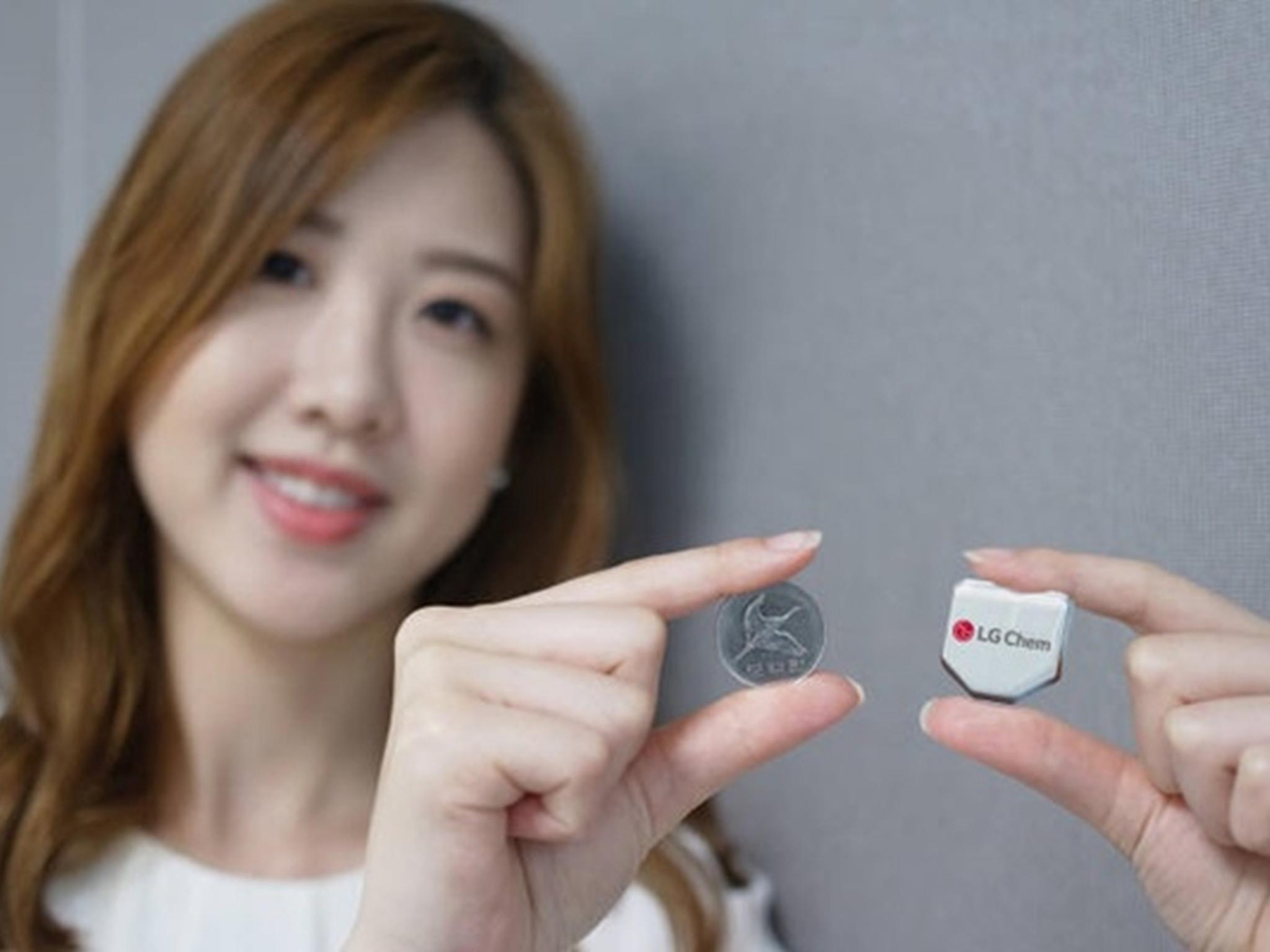 Hexagon-Akku von LG: Die Batterie soll bis zu vier Stunden mehr Laufzeit bieten.