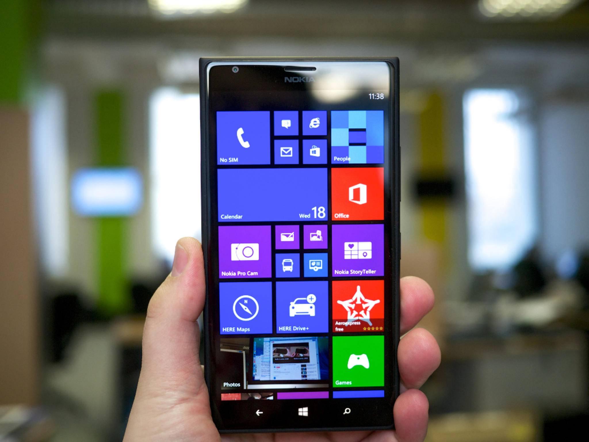 Bald könnte ein Lumia-Smartphone mit Curved-Screen ins Haus stehen.