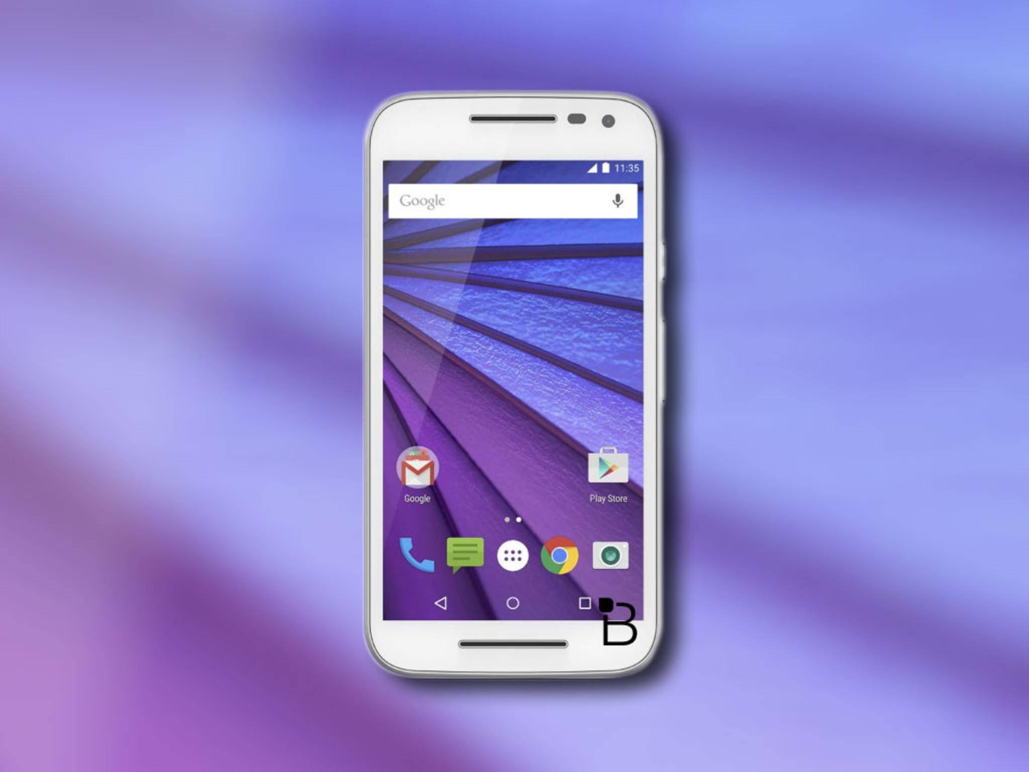 So könnte das neue Moto G 2015 von Motorola von vorne aussehen ...