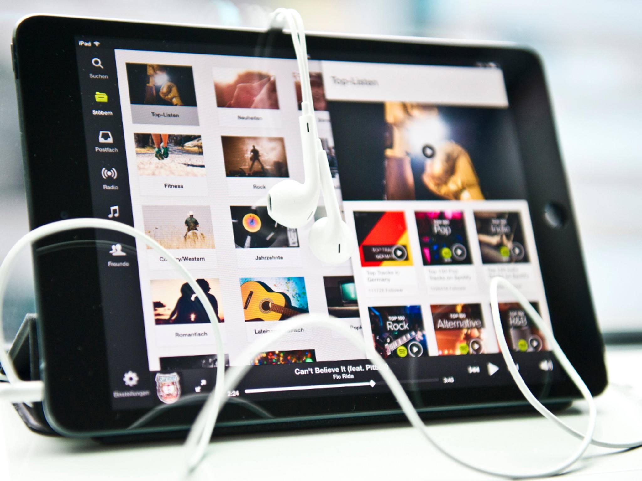 Zu den großen Konkurrenten von Apple Music zählt Spotify.