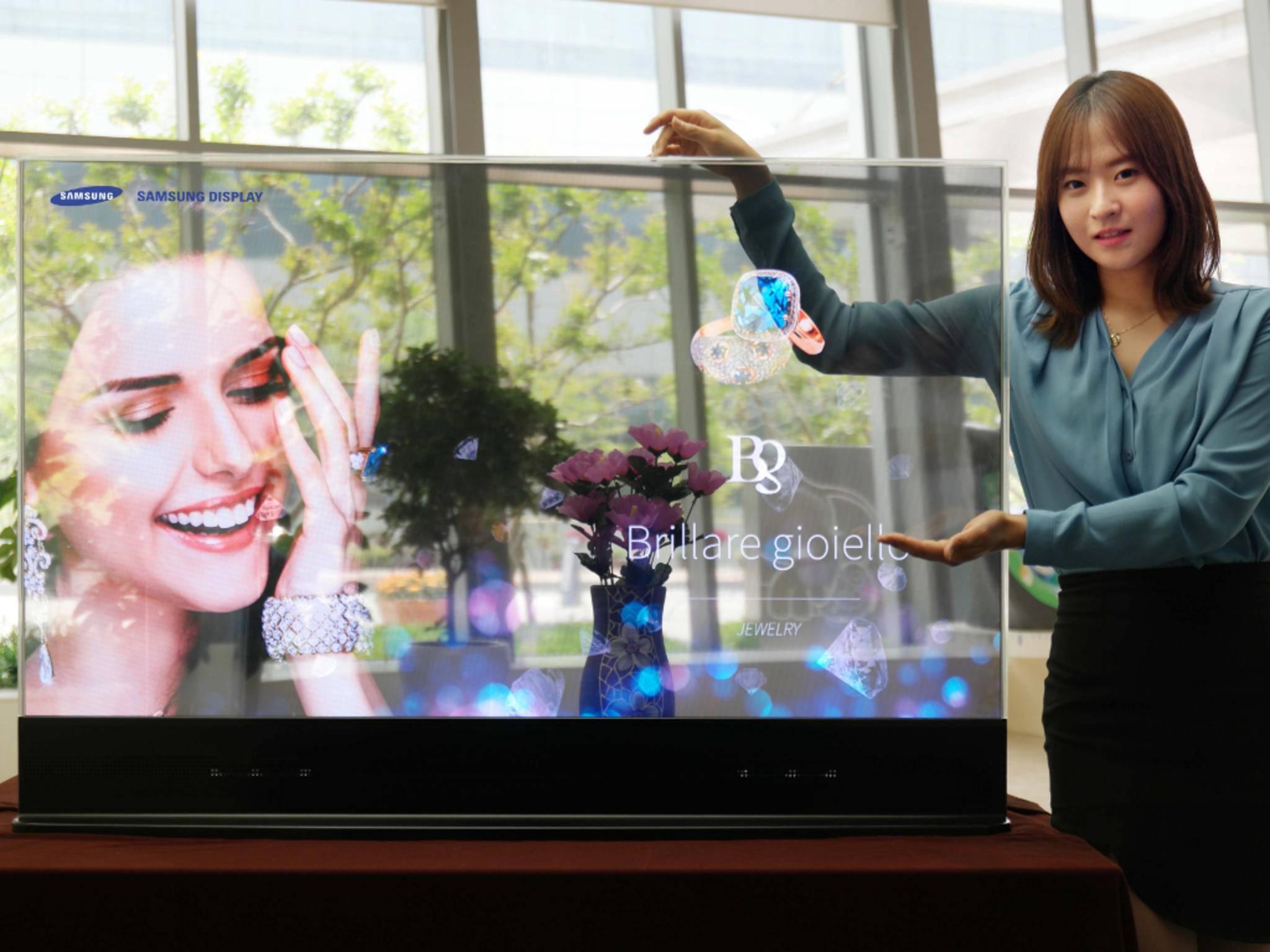 Transparenter Fernseher gefällig? Samsung gibt schonmal einen Ausblick.