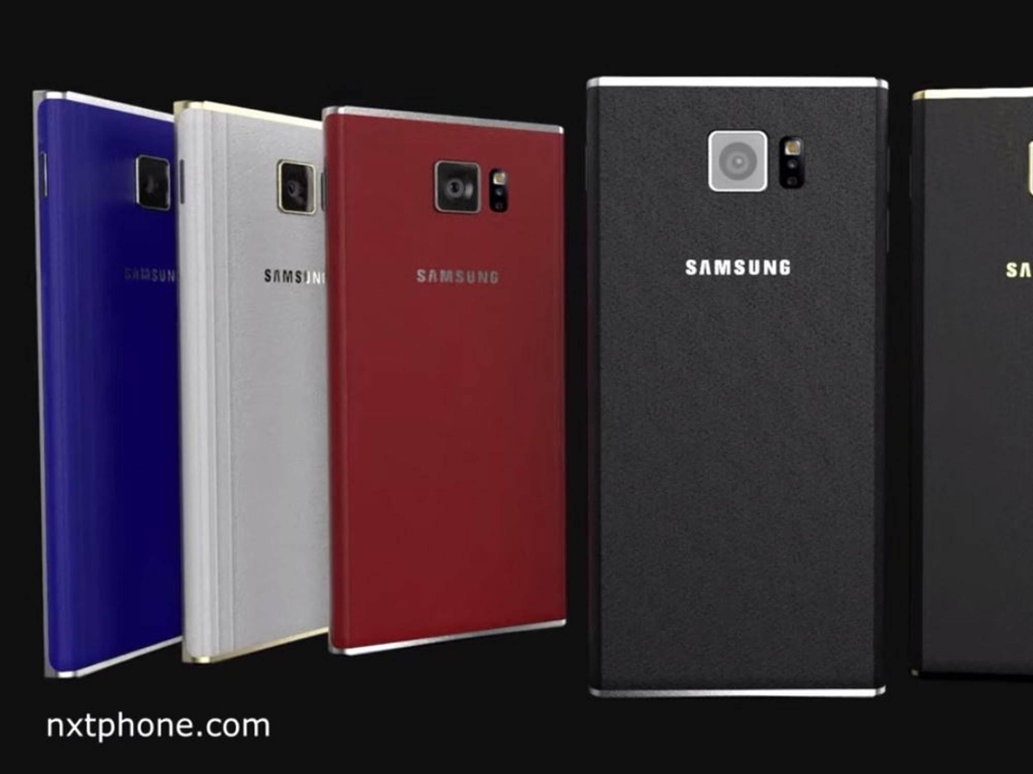 Nach dem Konzept könnte das Samsung Galaxy S7 in vier Farben erscheinen.