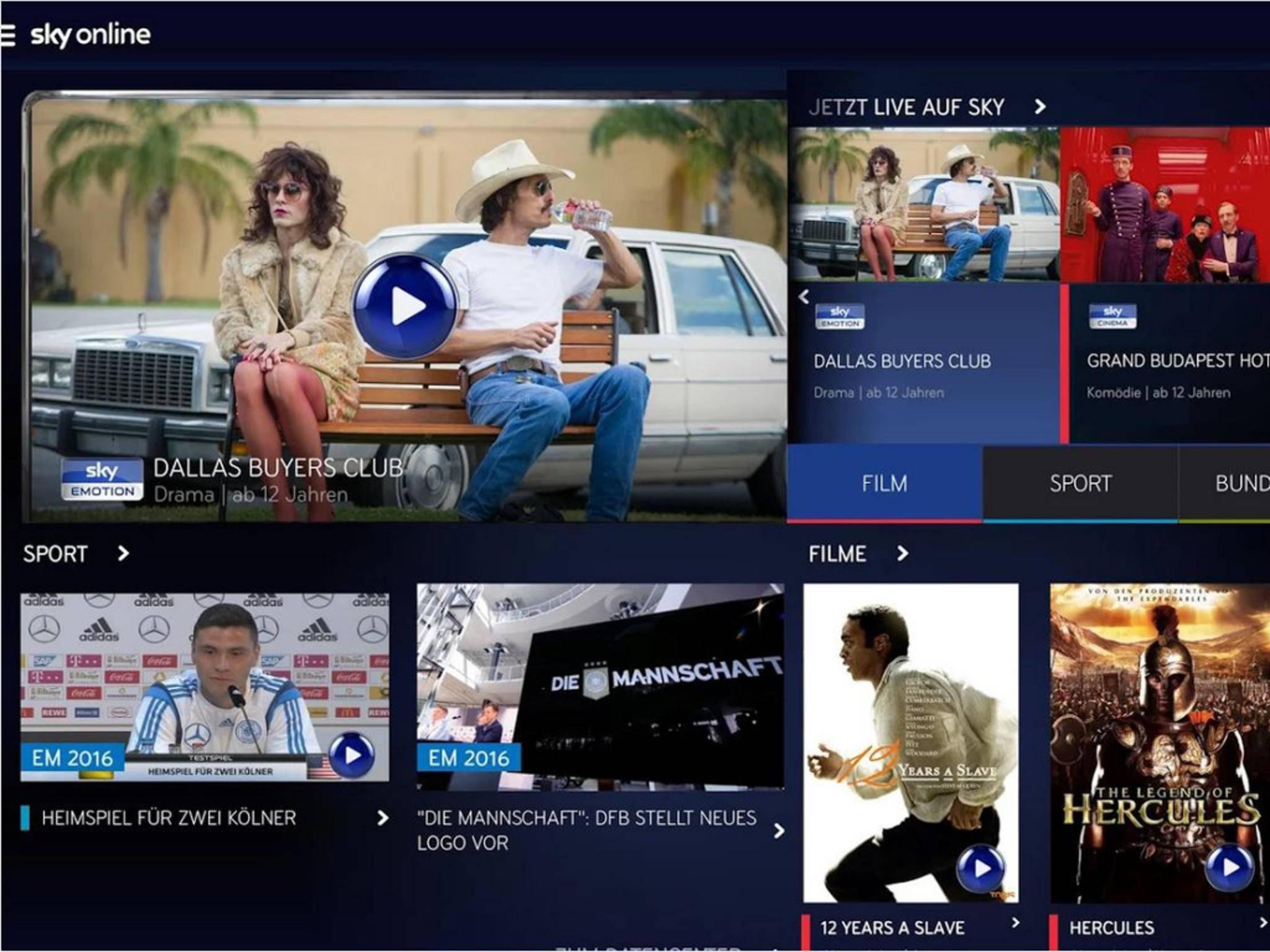 Sky Online ist jetzt auch für Android verfügbar.