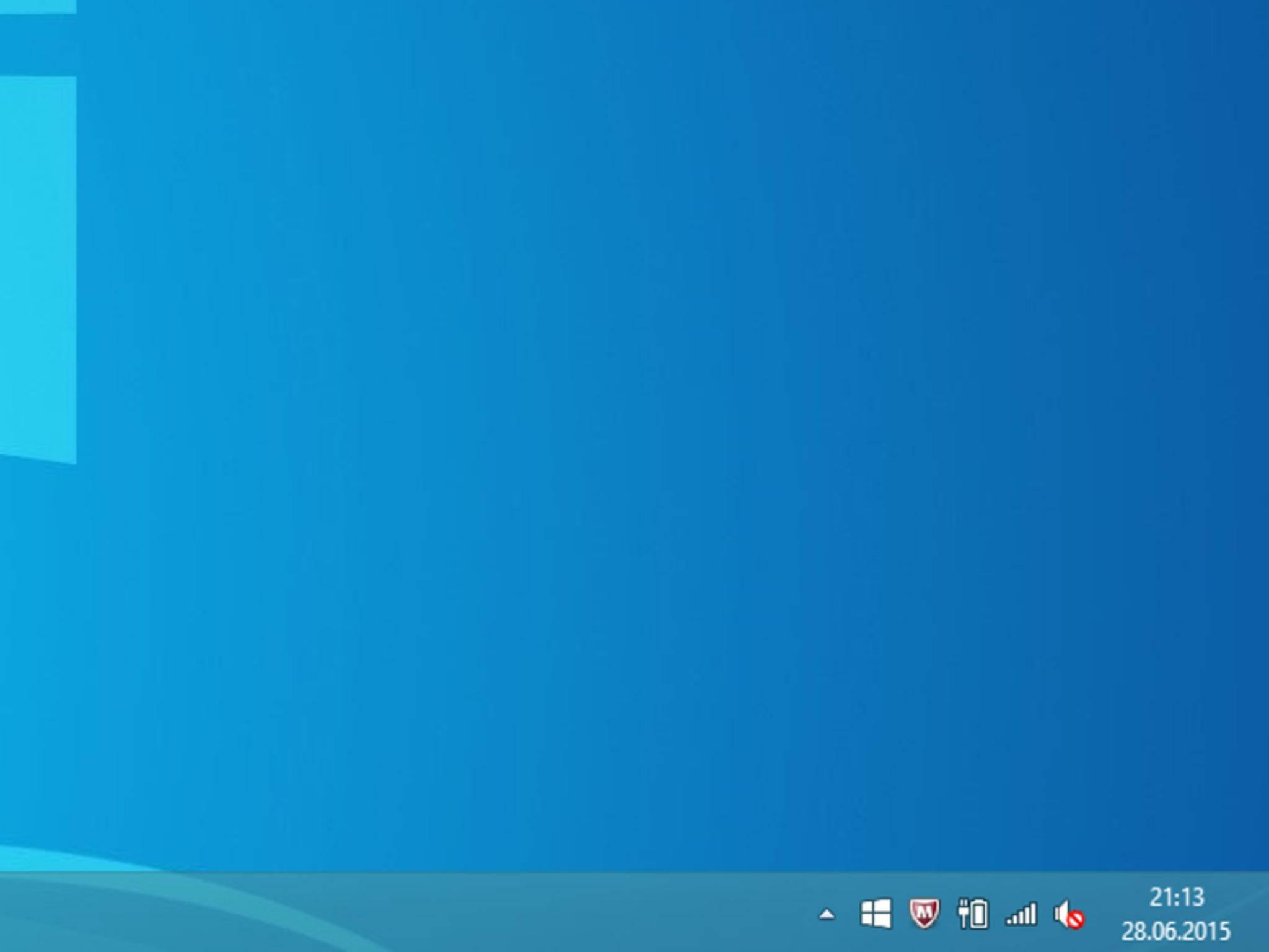 Das Update-Symbol findet sich unten rechts in der Taskleiste.