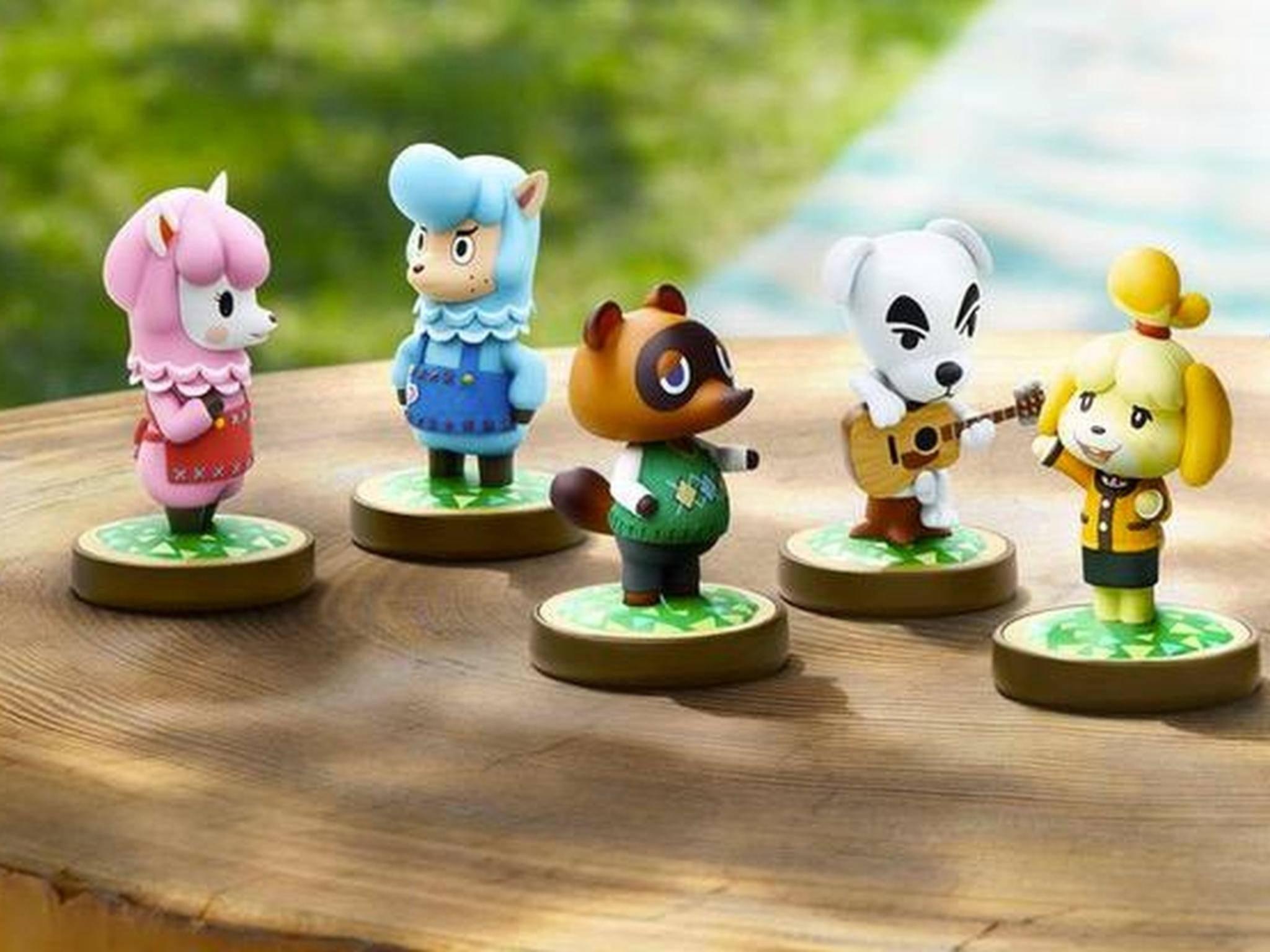 """Einige der insgesamt acht angekündigten Amiibos zu """"Animal Crossing""""."""