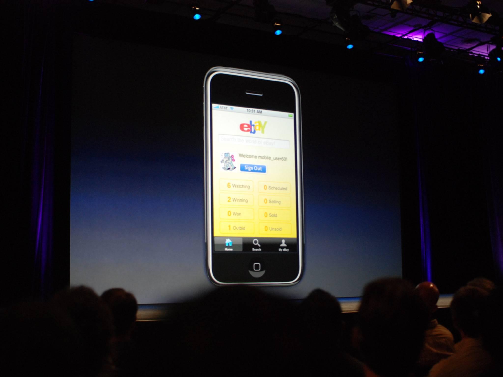So wurde die Ebay-App fürs iPhone auf dem WWDC 2008 präsentiert.