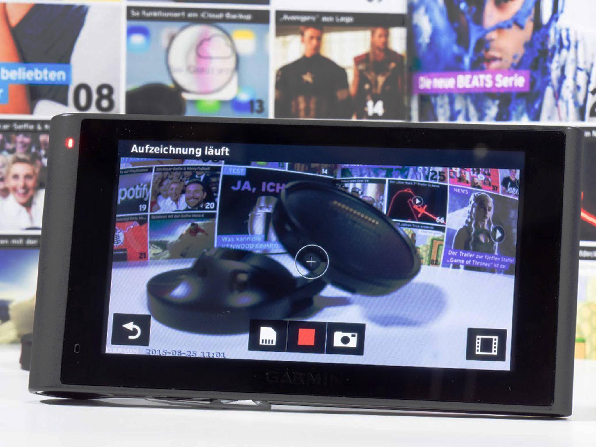 Die Kamera kann sowohl Filme wie auch Bilder aufzeichnen – etwa bei einem Unfall.