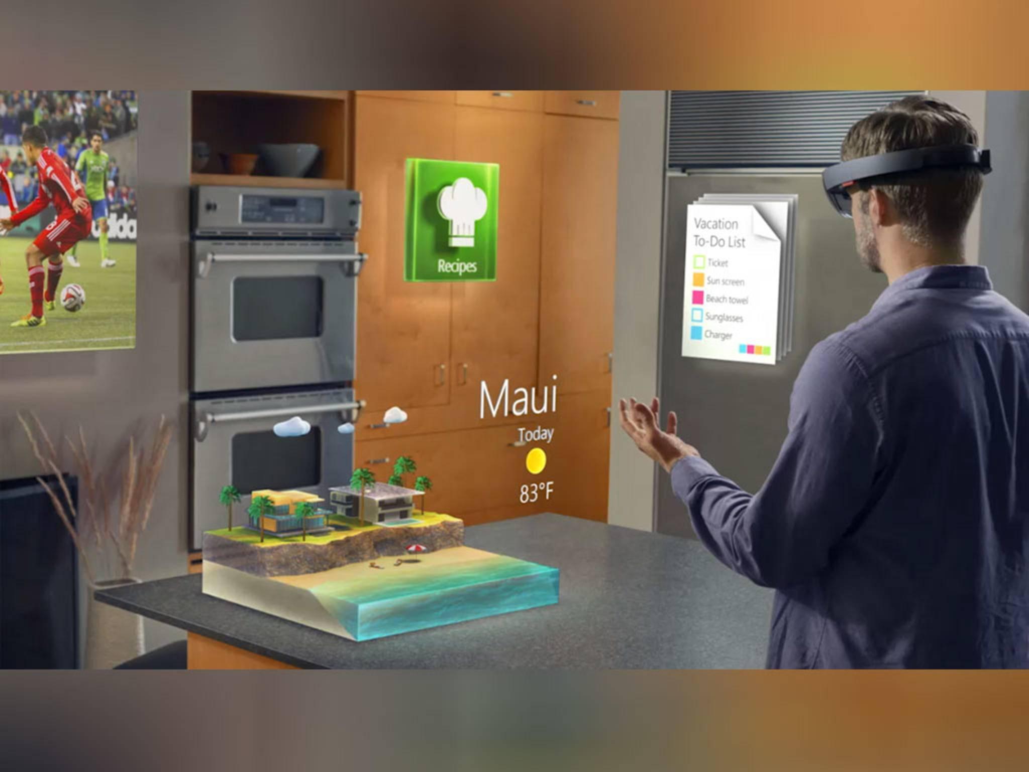 Sehr begrenzt: Tester kritisieren das kleine Blickfeld der Microsoft HoloLens.