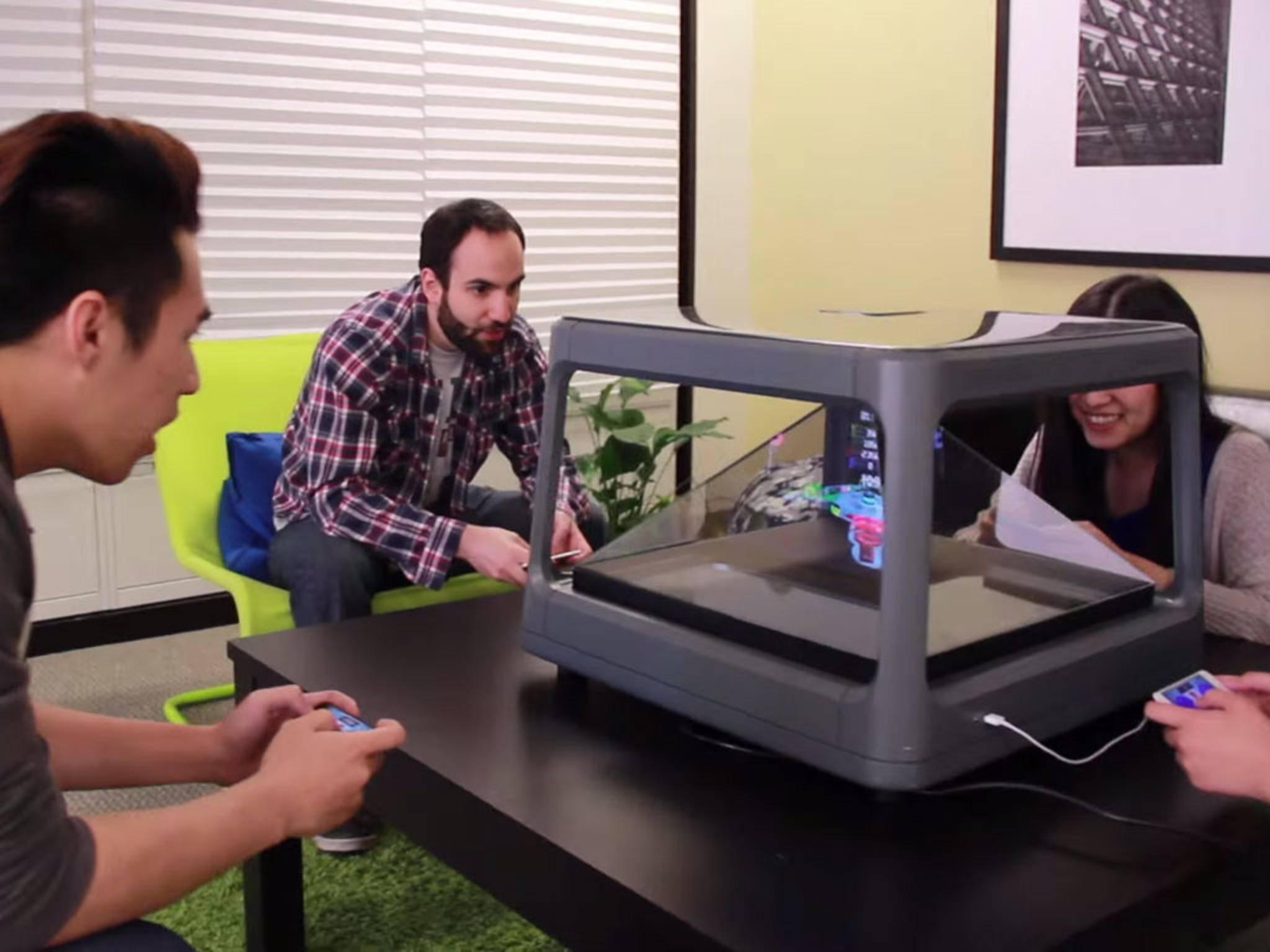 Mit dem Holus kann man gemeinsam 3D-Spiele zocken.
