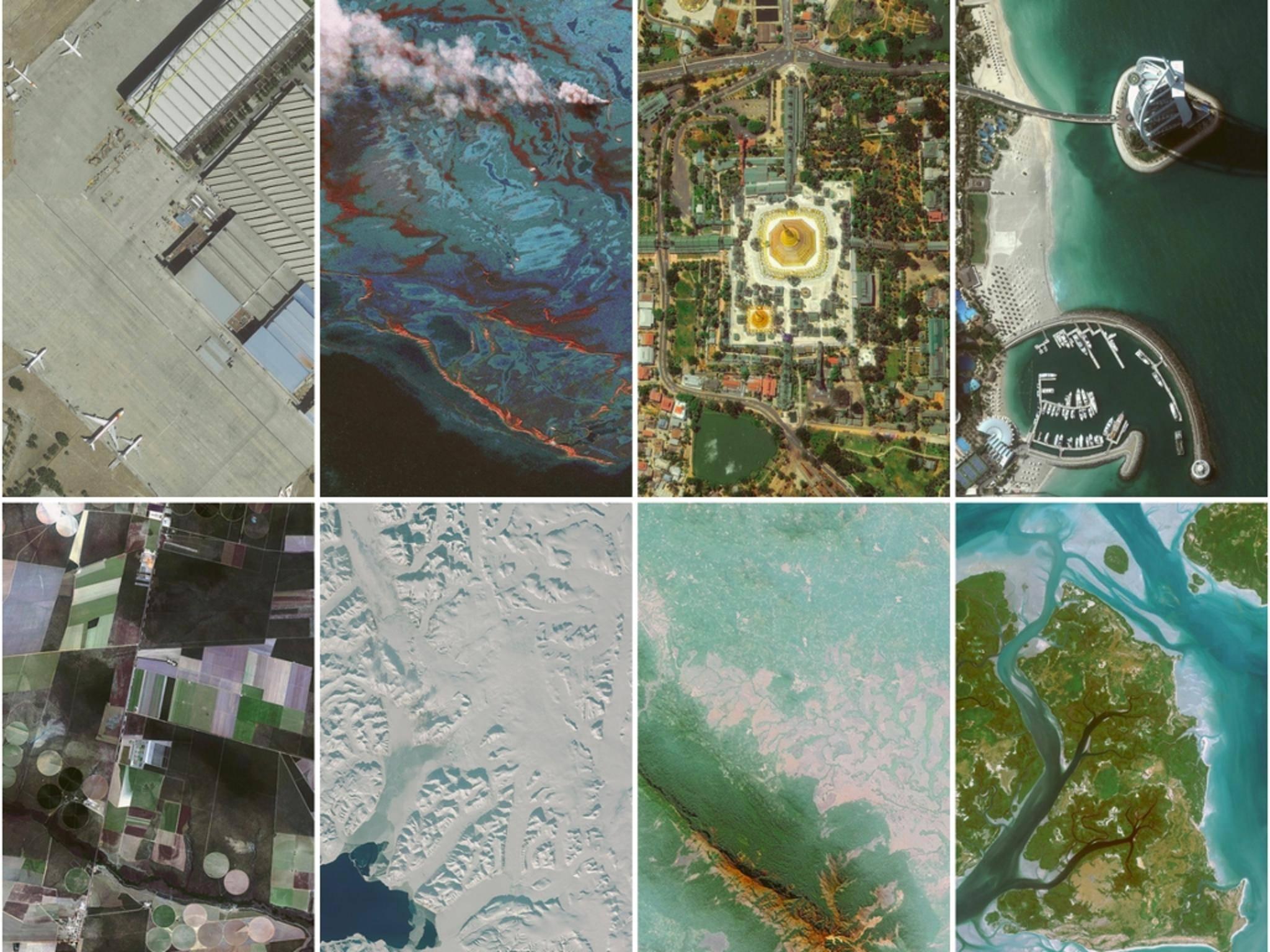 Auch Satellitenaufnahmen bieten sich als Wallpaper für das iPhoen an.