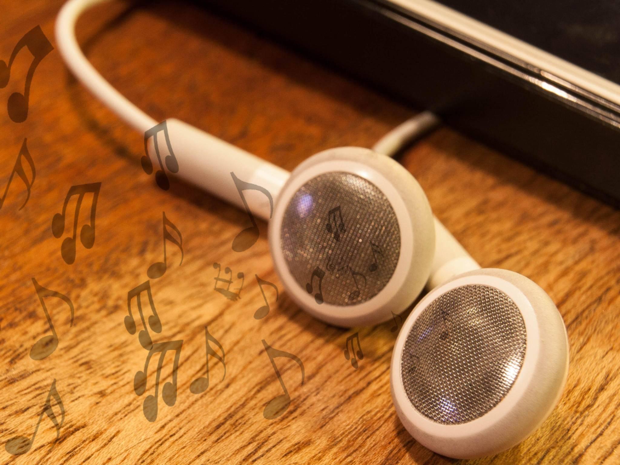 Ein normales Headset dient als Antenne.