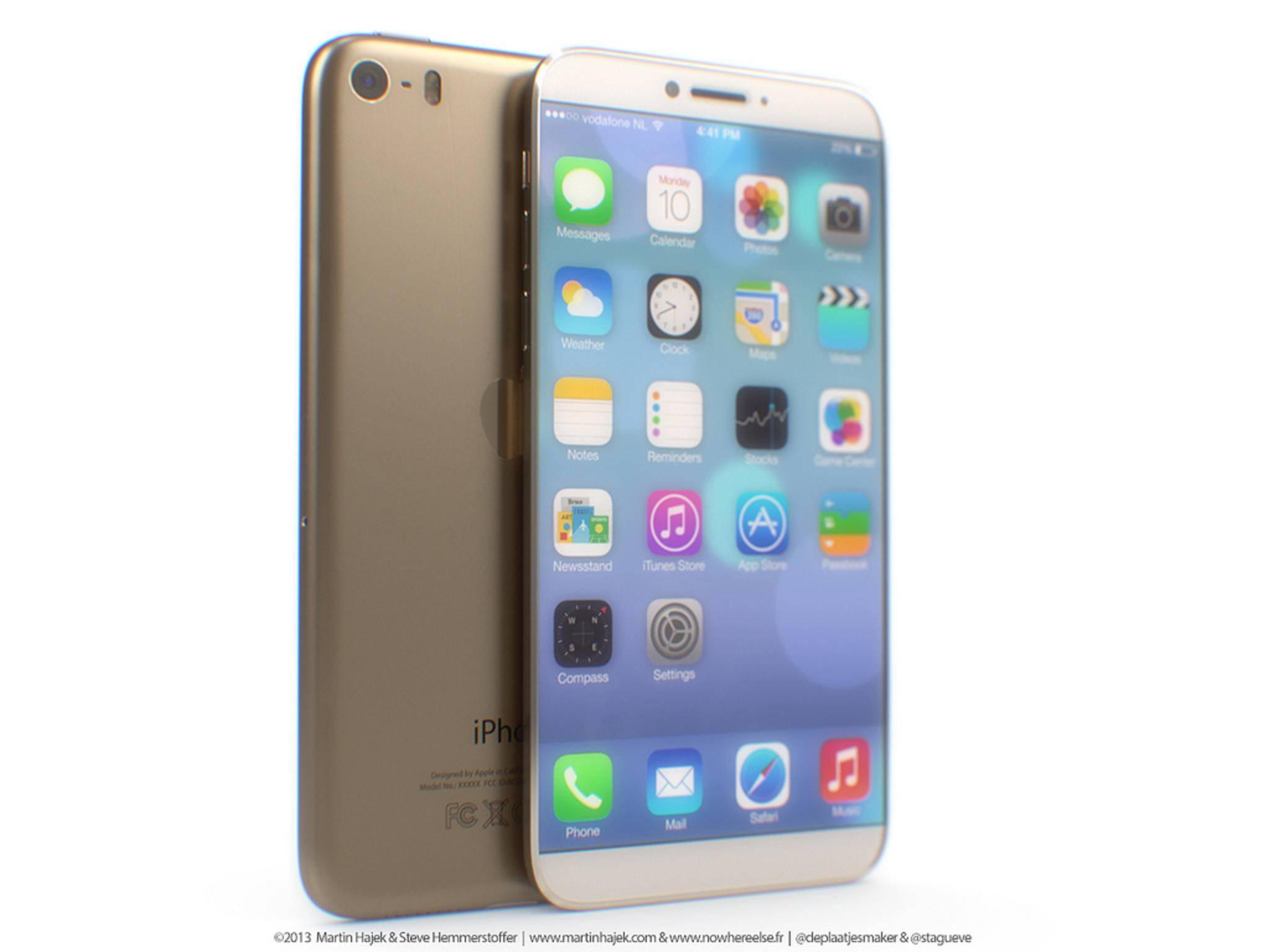 So könnte ein iPhone 7 ohne echten Home-Button aussehen.
