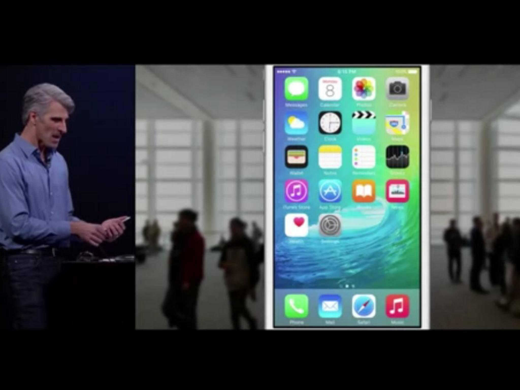 iOS 9 kommt für alle Geräte, die auch iOS 8 unterstützen.