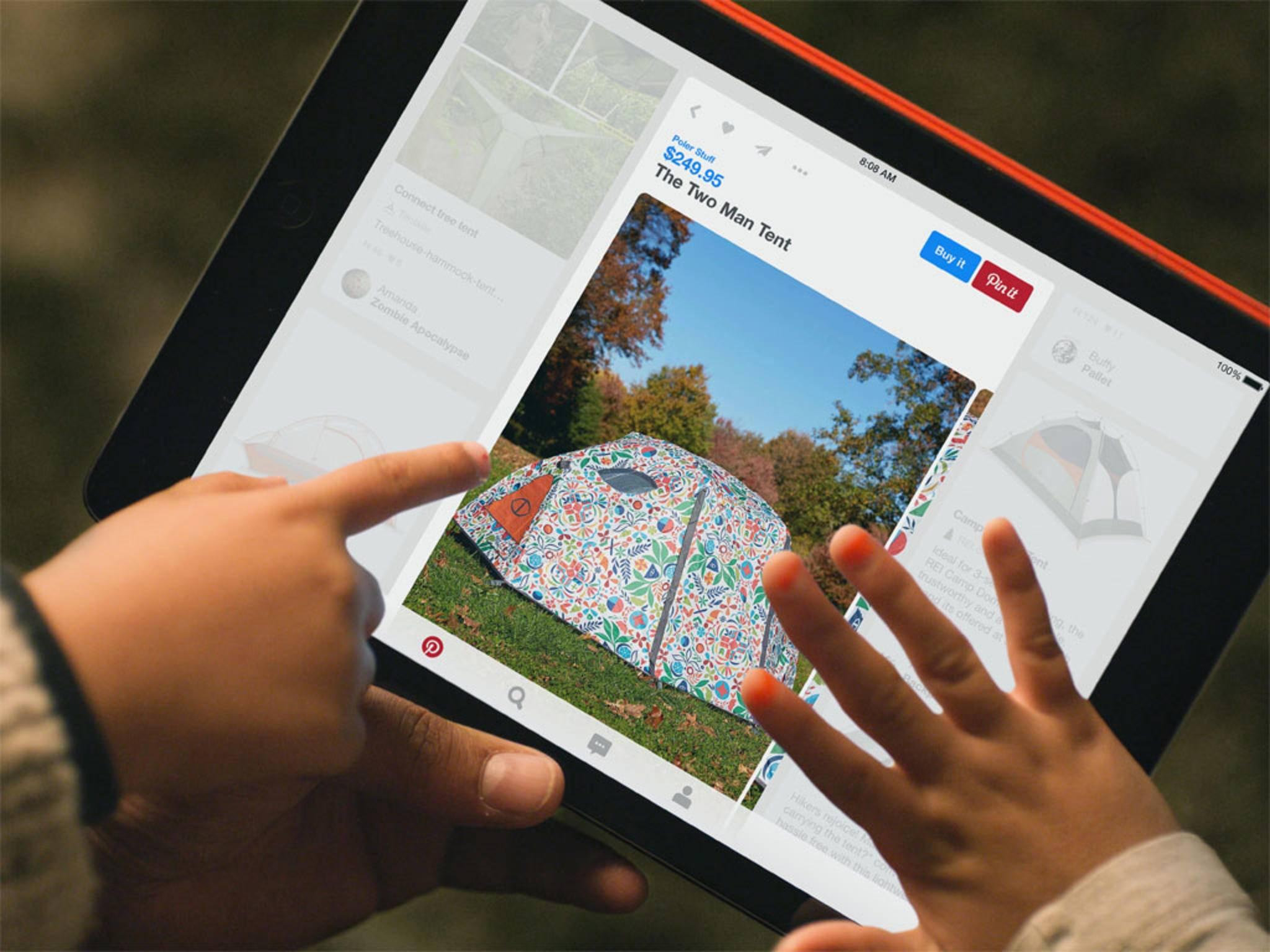 Blauer Button bei Pinterest: Bald werden US-Nutzer Pins auch kaufen können.