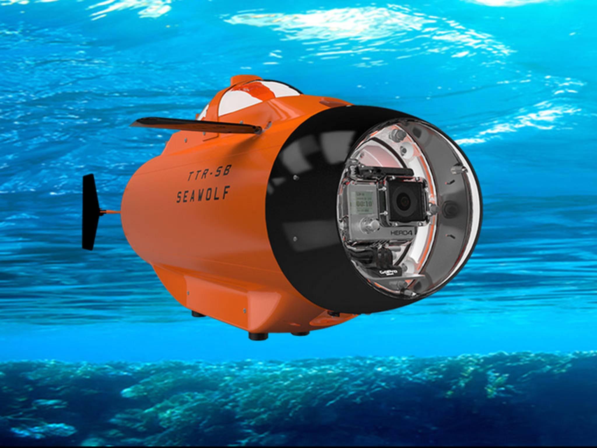 """In das Mini-U-Boot """"Seawolf"""" kann man  eine GoPro einbauen."""