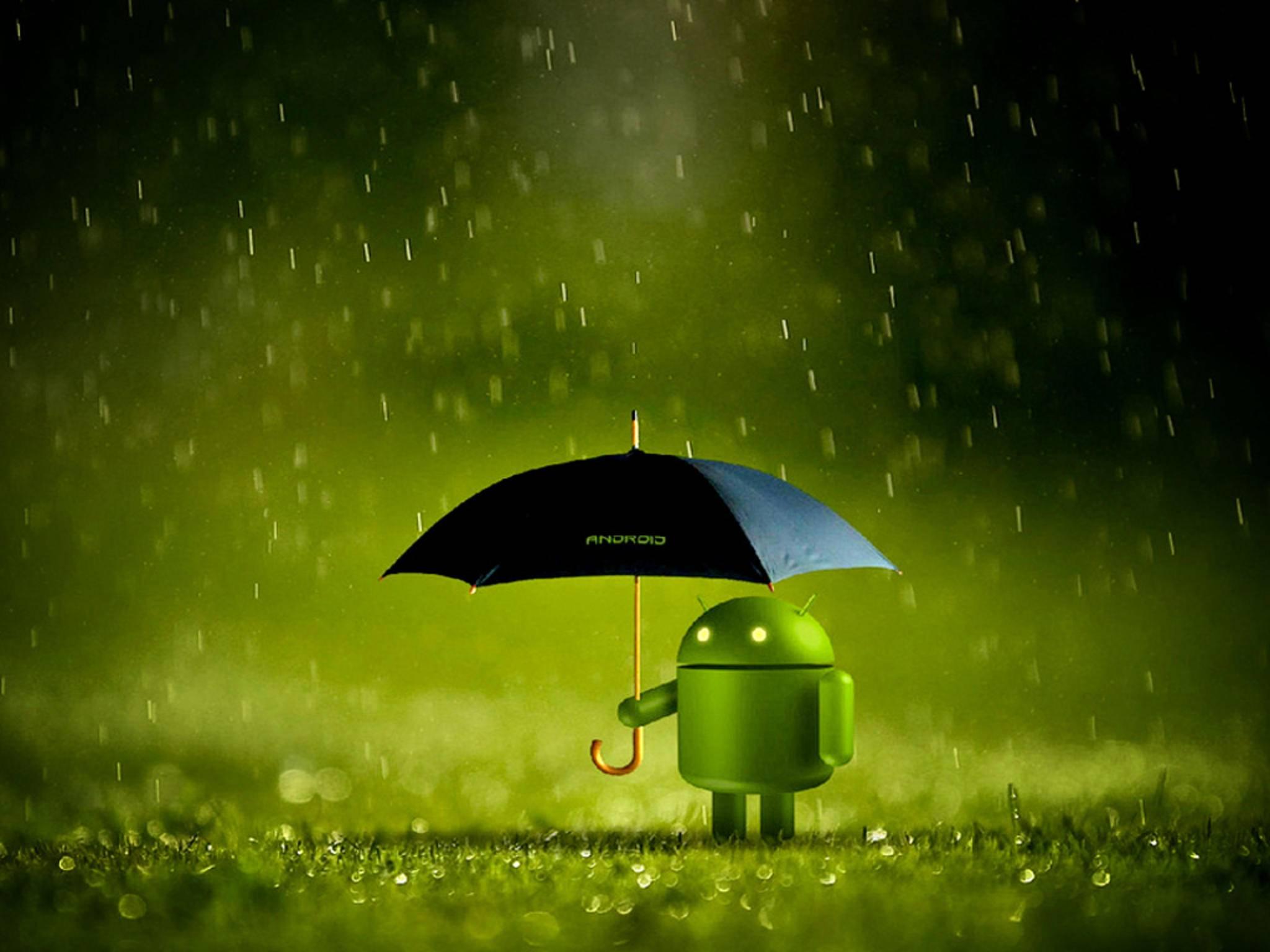 Stagefright: Momentan lässt Android seine Nutzer manchmal etwas im Regen stehen.