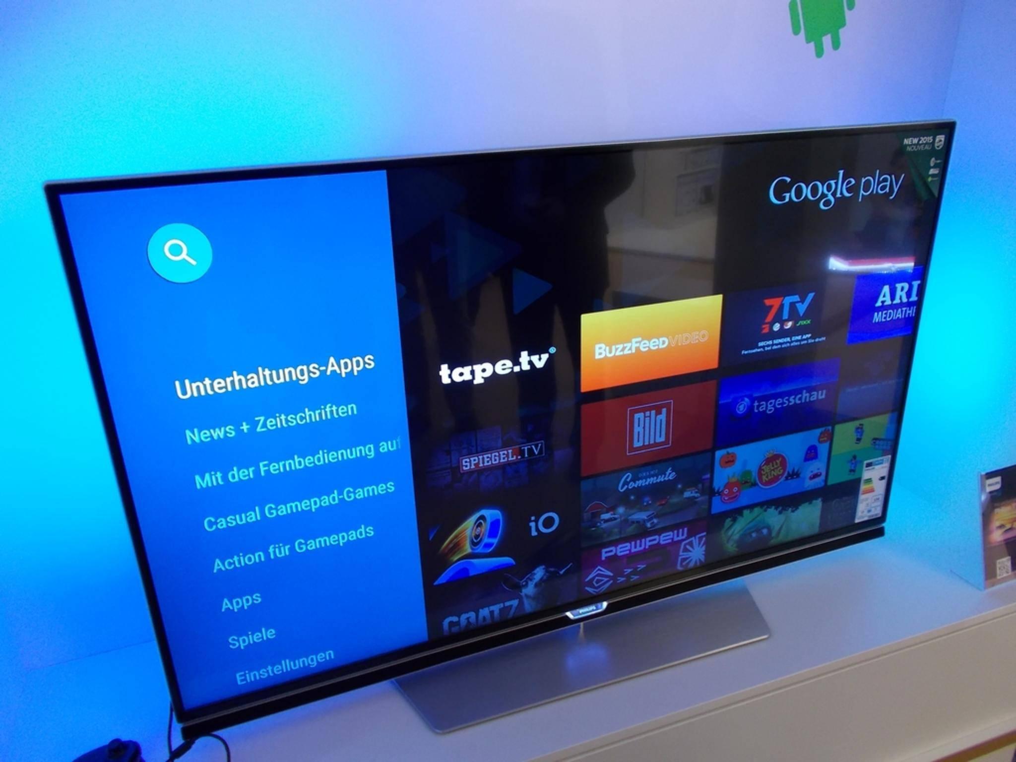 Der Google Play Store auf den neuen Smart TVs von Philips.