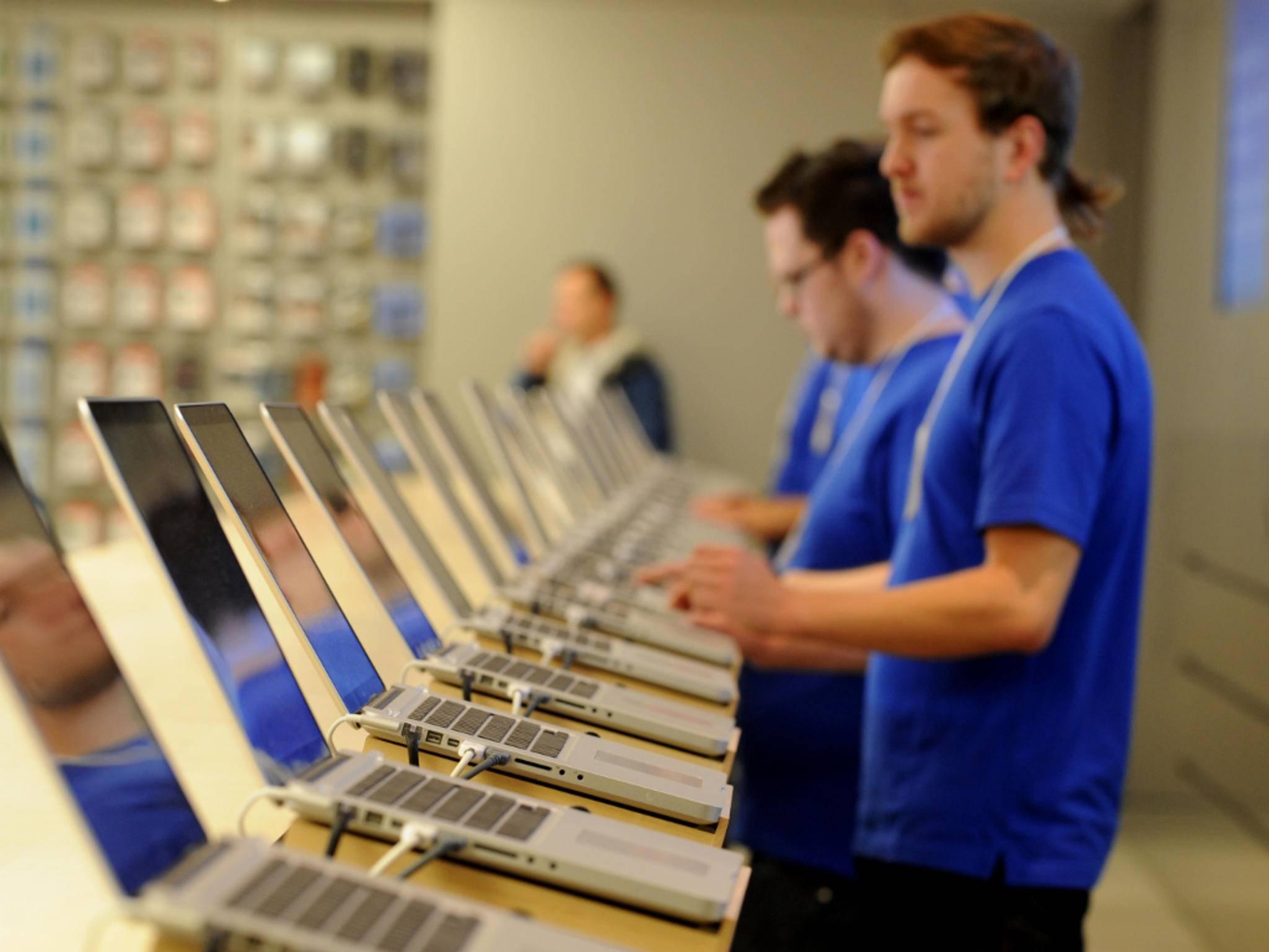 Apple Store-Mitarbeiter werden lange geschult.