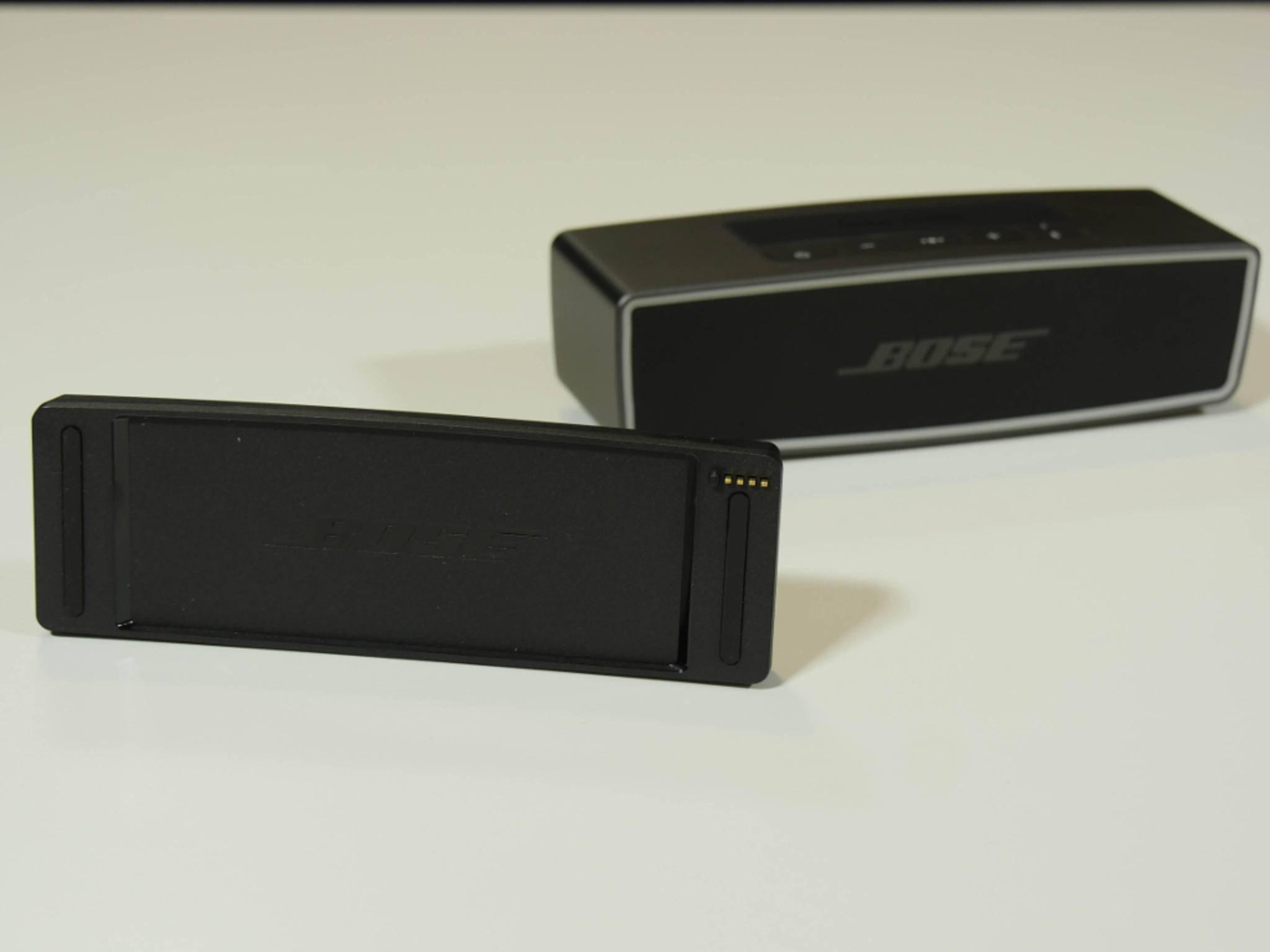 Die Konfiguration erfolgt über die Tasten an der Oberseite des SoundLink Mini II.