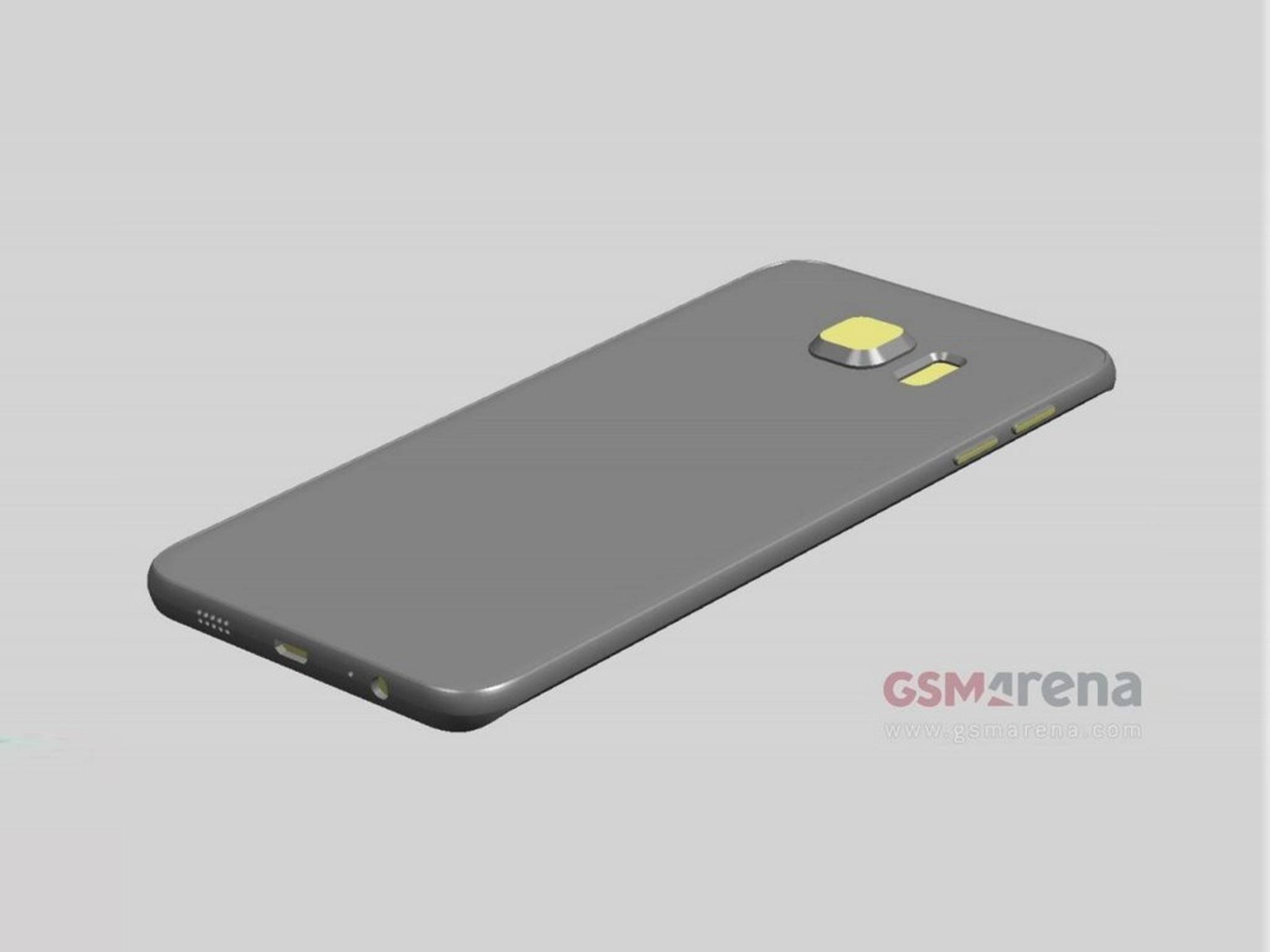 Die Abmessungen des Galaxy S6 Edge Plus fallen wohl ähnlich aus.