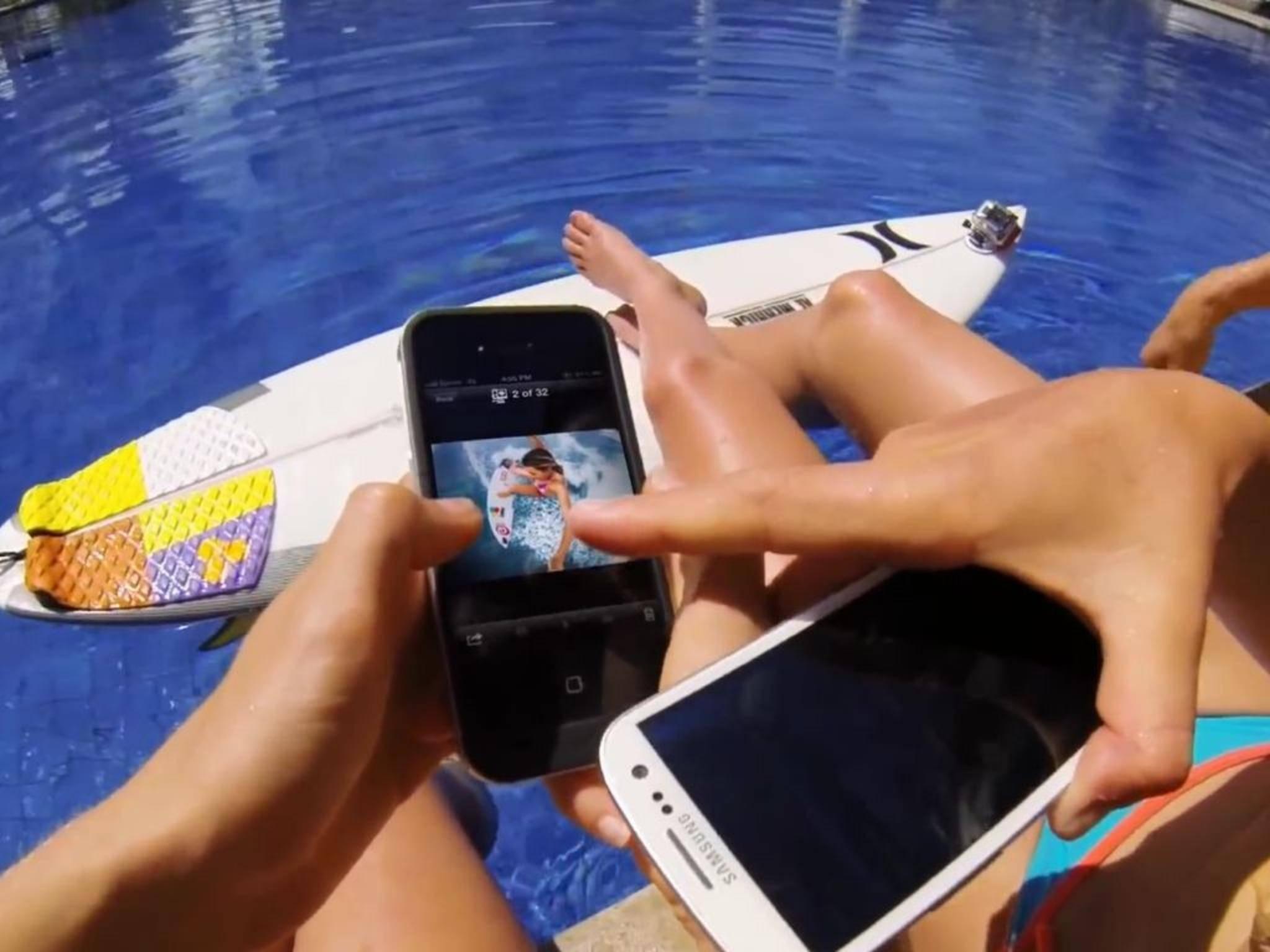 Mit der GoPro-App lassen sich Clips direkt am Smartphone editieren.