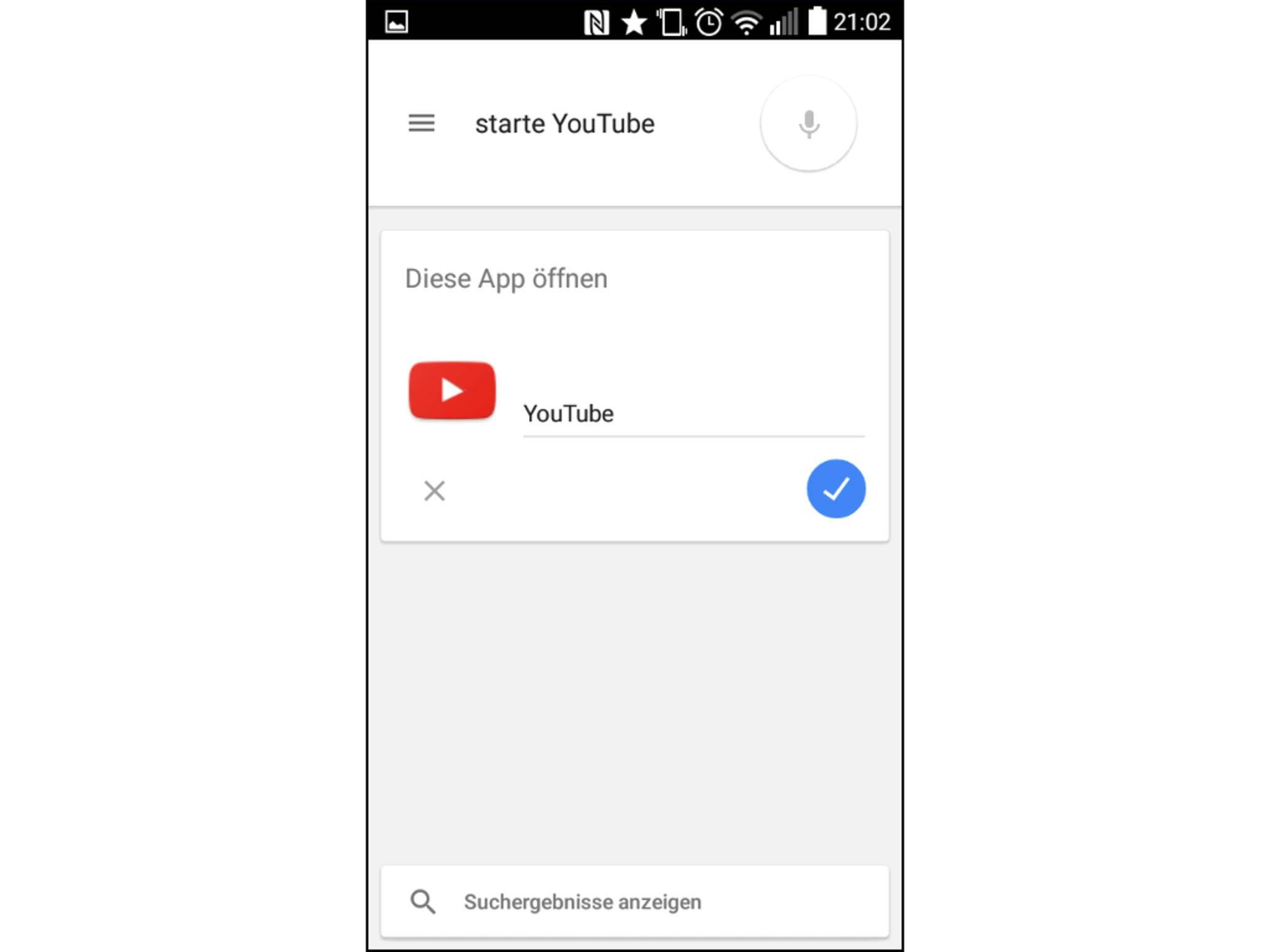Populäre Apps lassen sich per Sprachbefehl starten.