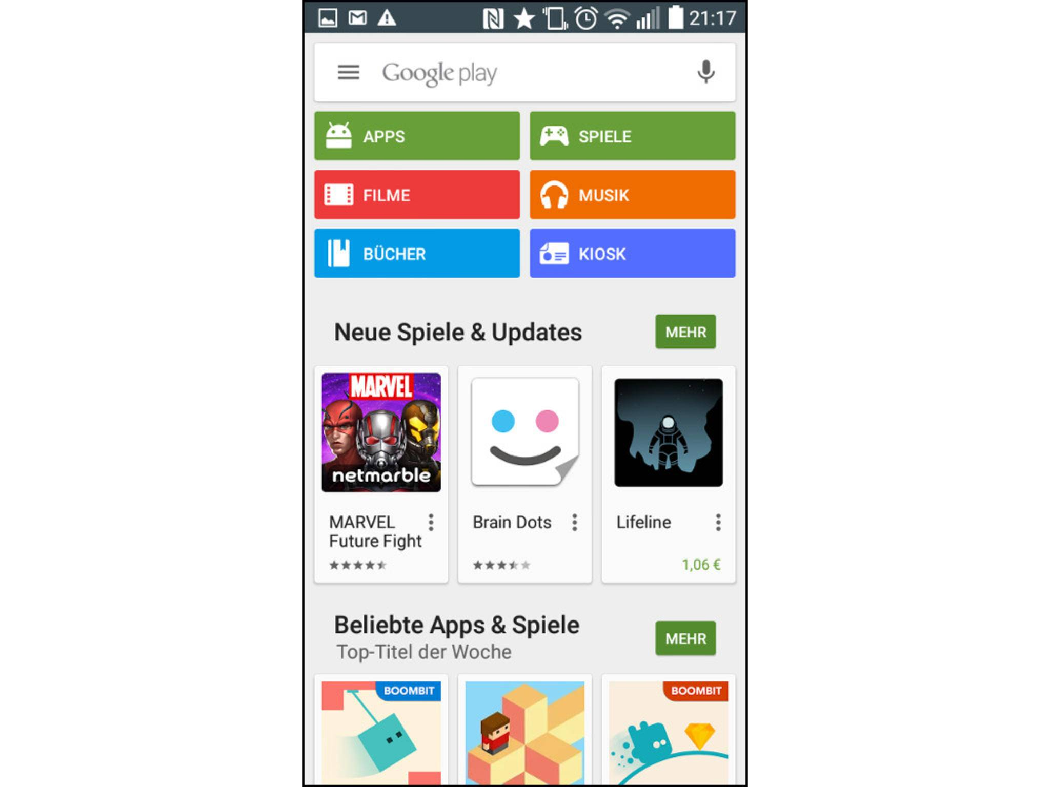 Im Google Play Store kannst Du Deine Android-Geräte verwalten.