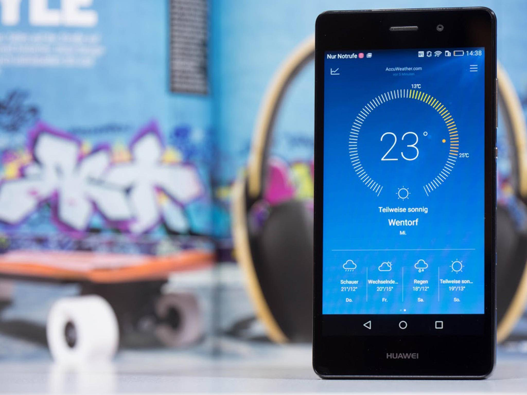 Das Huawei P80 Lite hat ein 5-Zoll-Display, das allerdings ...
