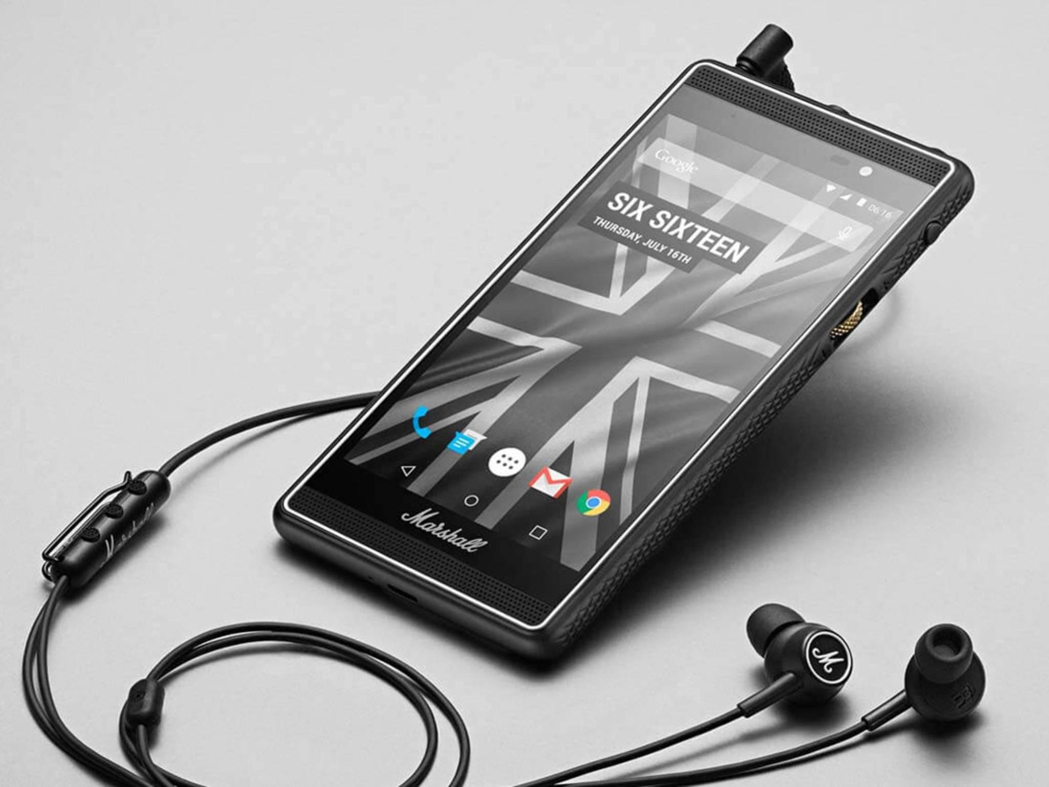 Das Smartphone von Marshall richtet sich besonders an Musik-Liebhaber.