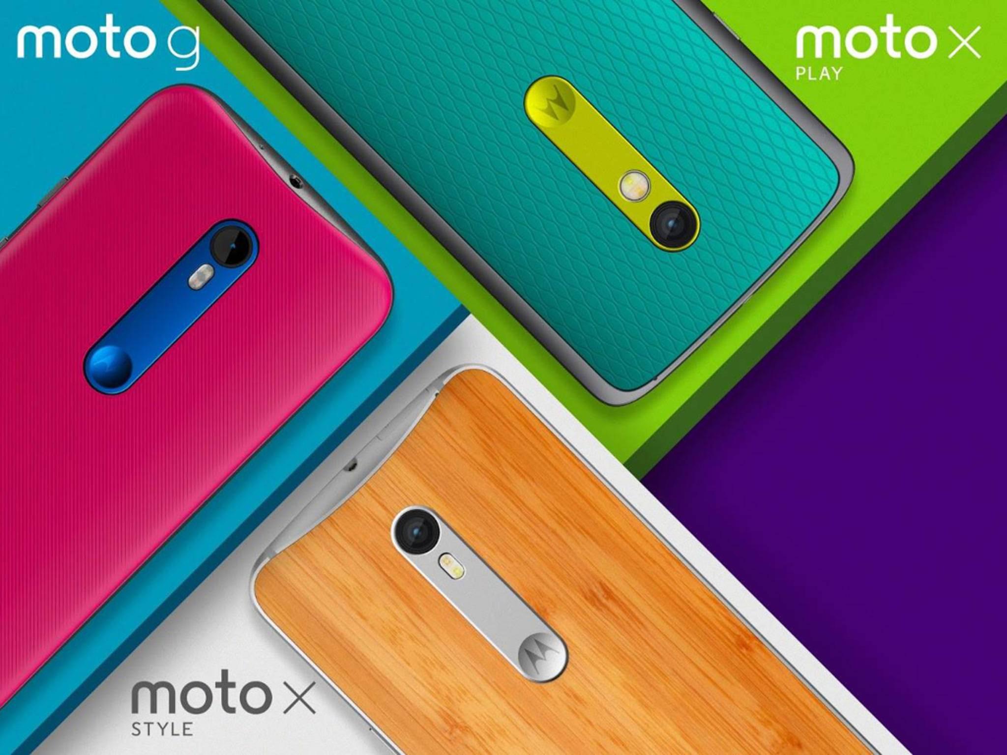 Motorola bringt gleich zwei neue Moto X auf den Markt.