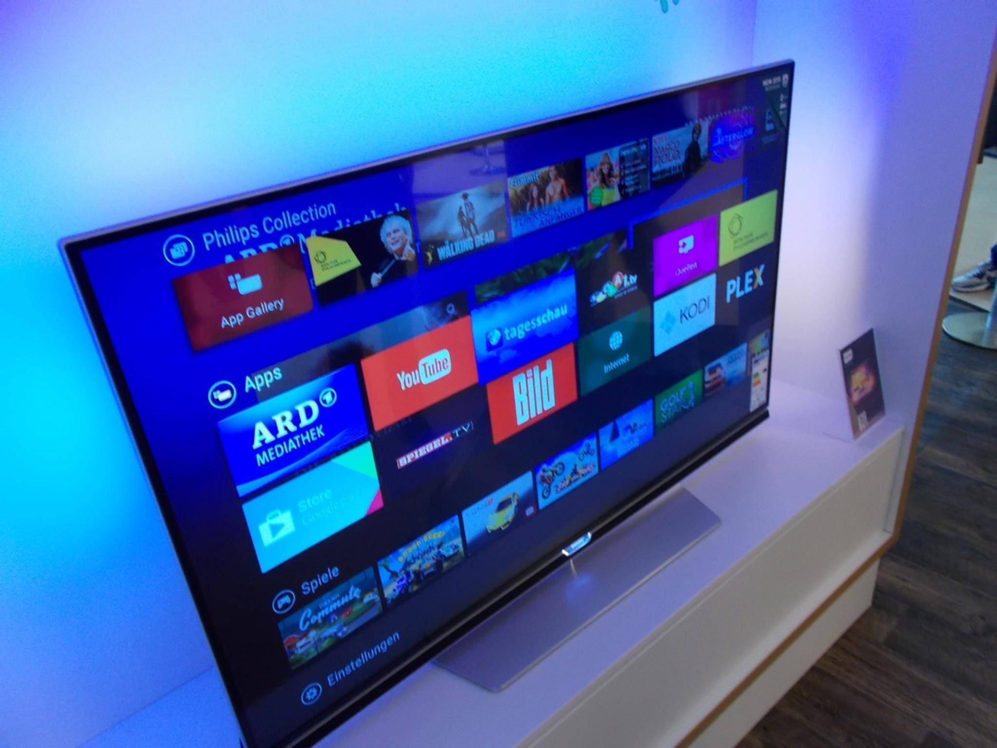 Android TV 8: Fast alle Android TVs von Philips werden in den Genuss eines schicken neuen Startbildschirms kommen.