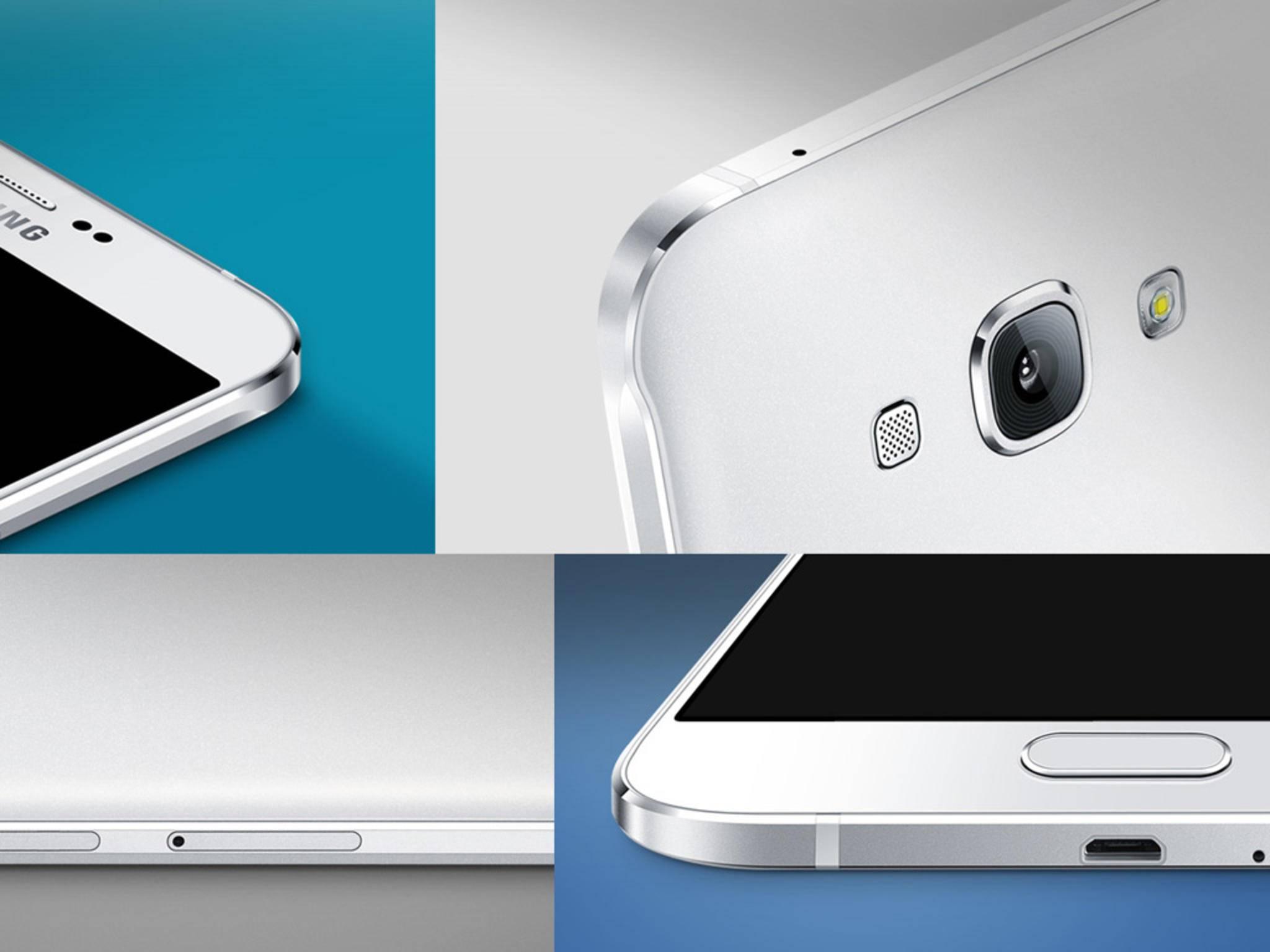 Das Galaxy A8 hat ein 5,7 Zoll großes SuperAMOLED-Display mit Full-HD-Auflösung.