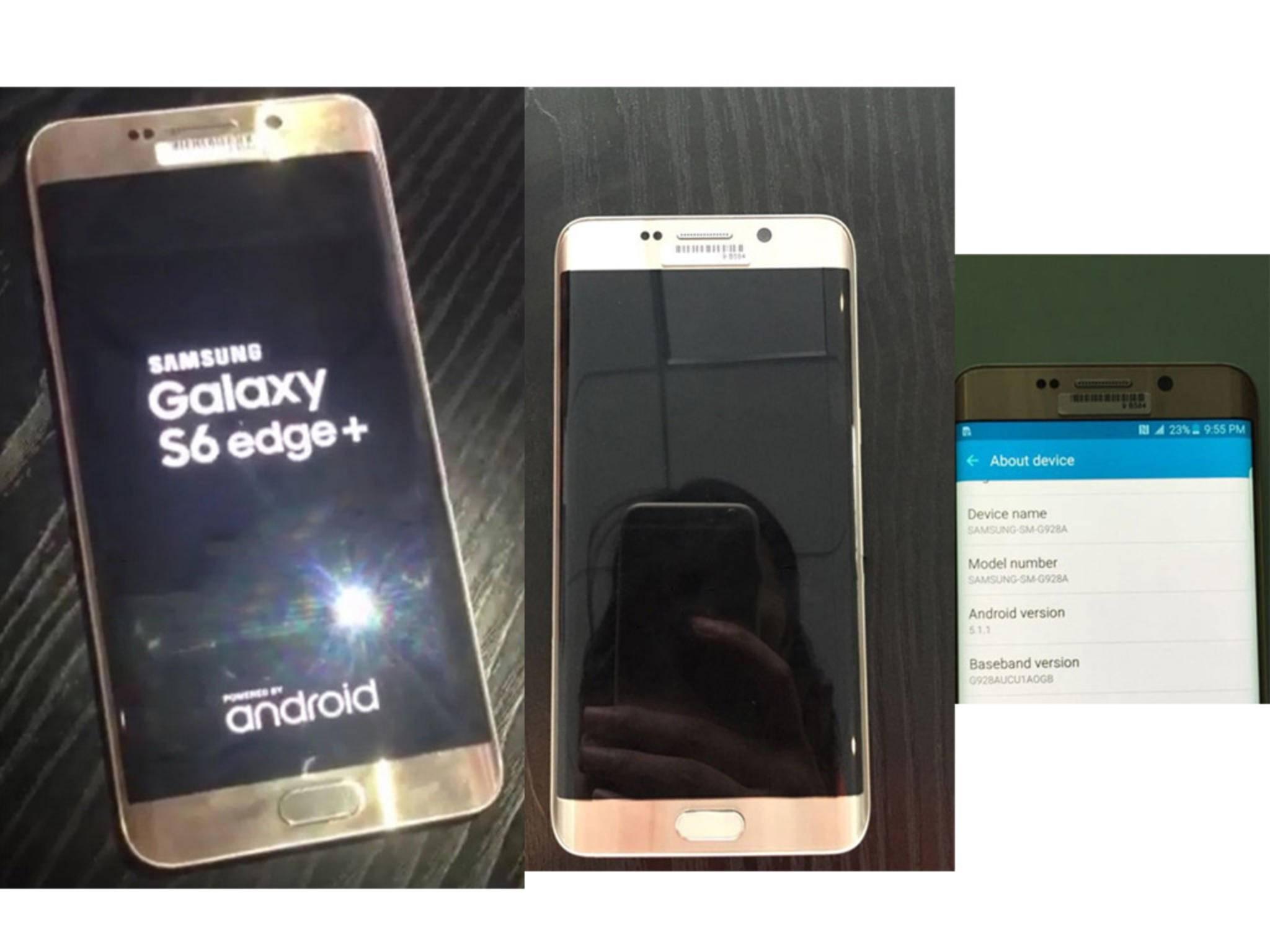 Das Galaxy S6 Edge+ präsentiert sich optisch genau wie sein kleiner Bruder.