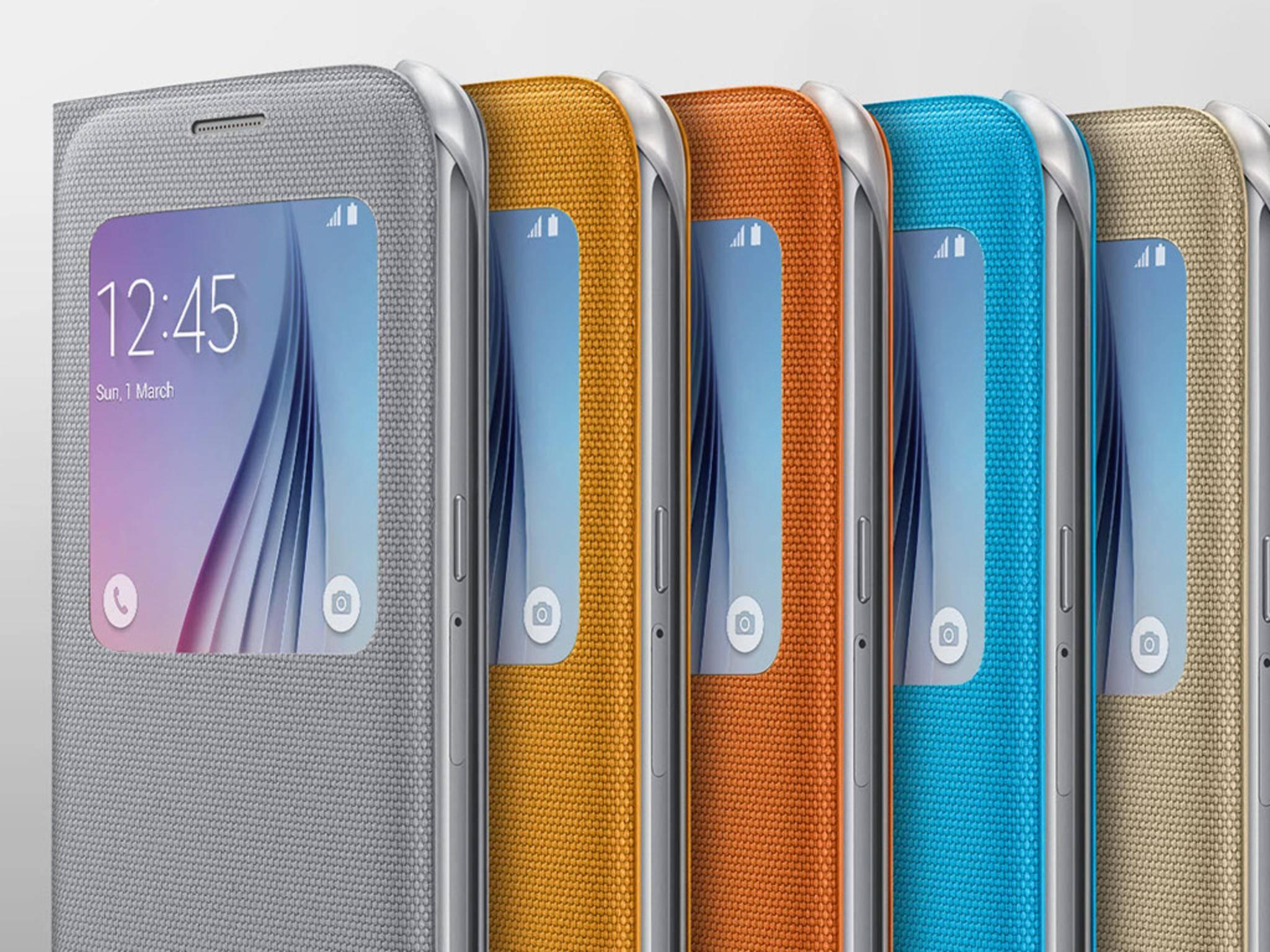 Die Samsung S-View-Schutzhüllen gibt es in unterschiedlichen Farben.