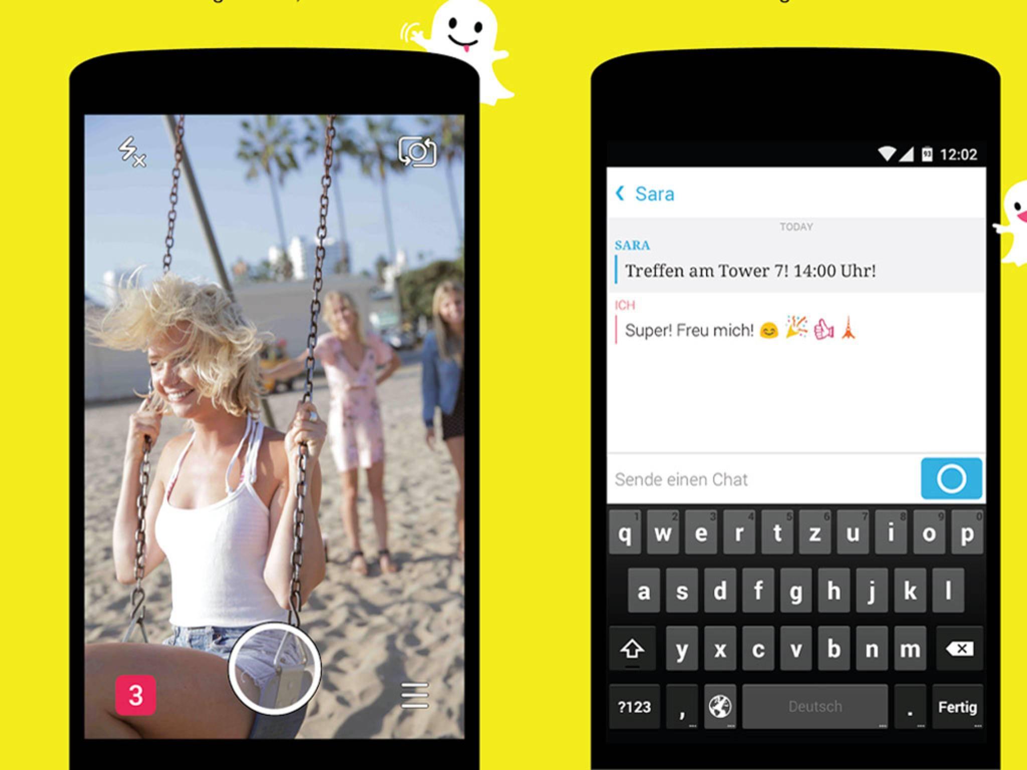 Mit einem Update hat Snapchat erneut zusätzliche Features erhalten.