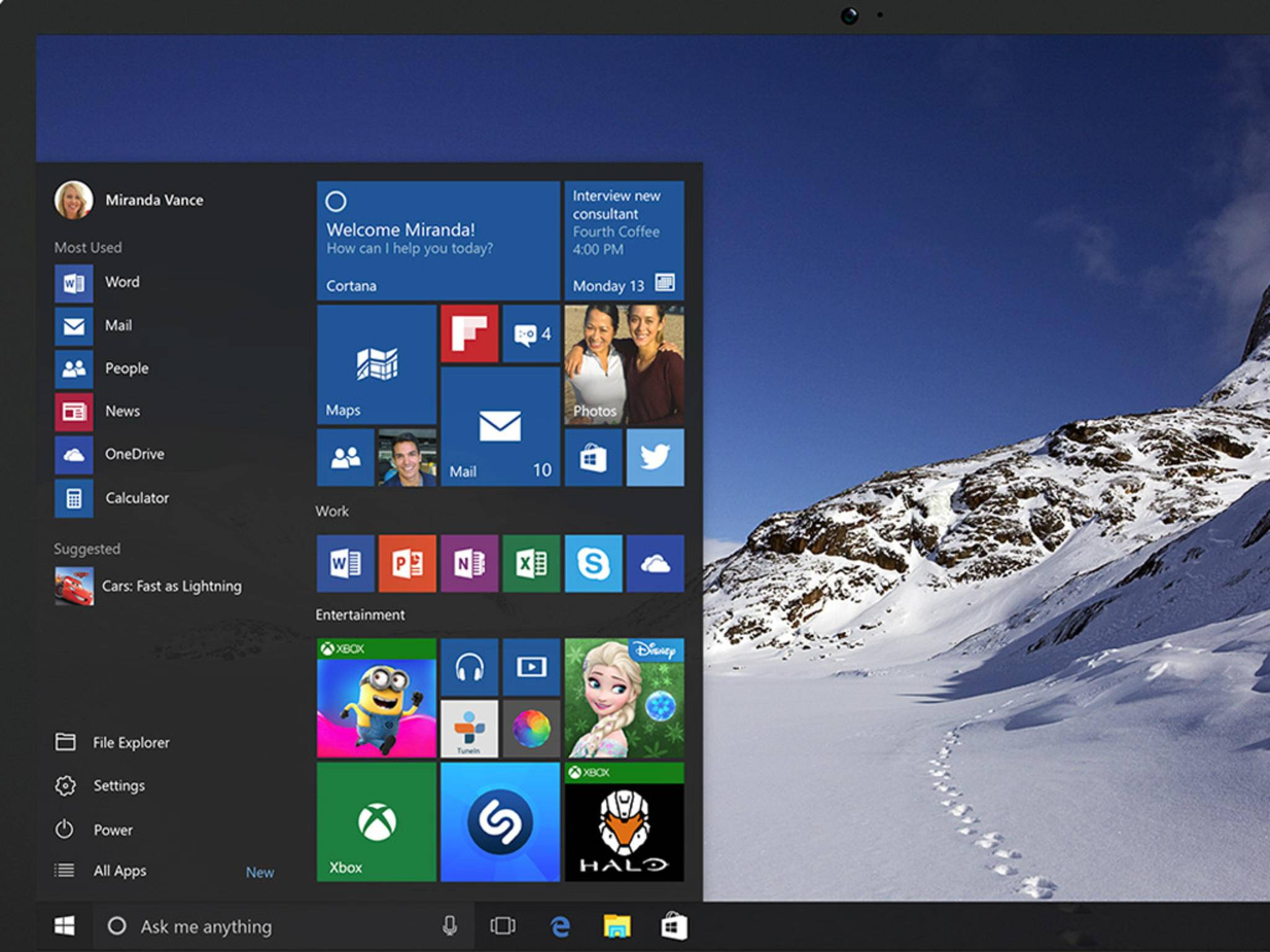 Windows 10 sieht deutlich schöner aus als der Vorgänger - hat aber auch noch ein paar Bugs.