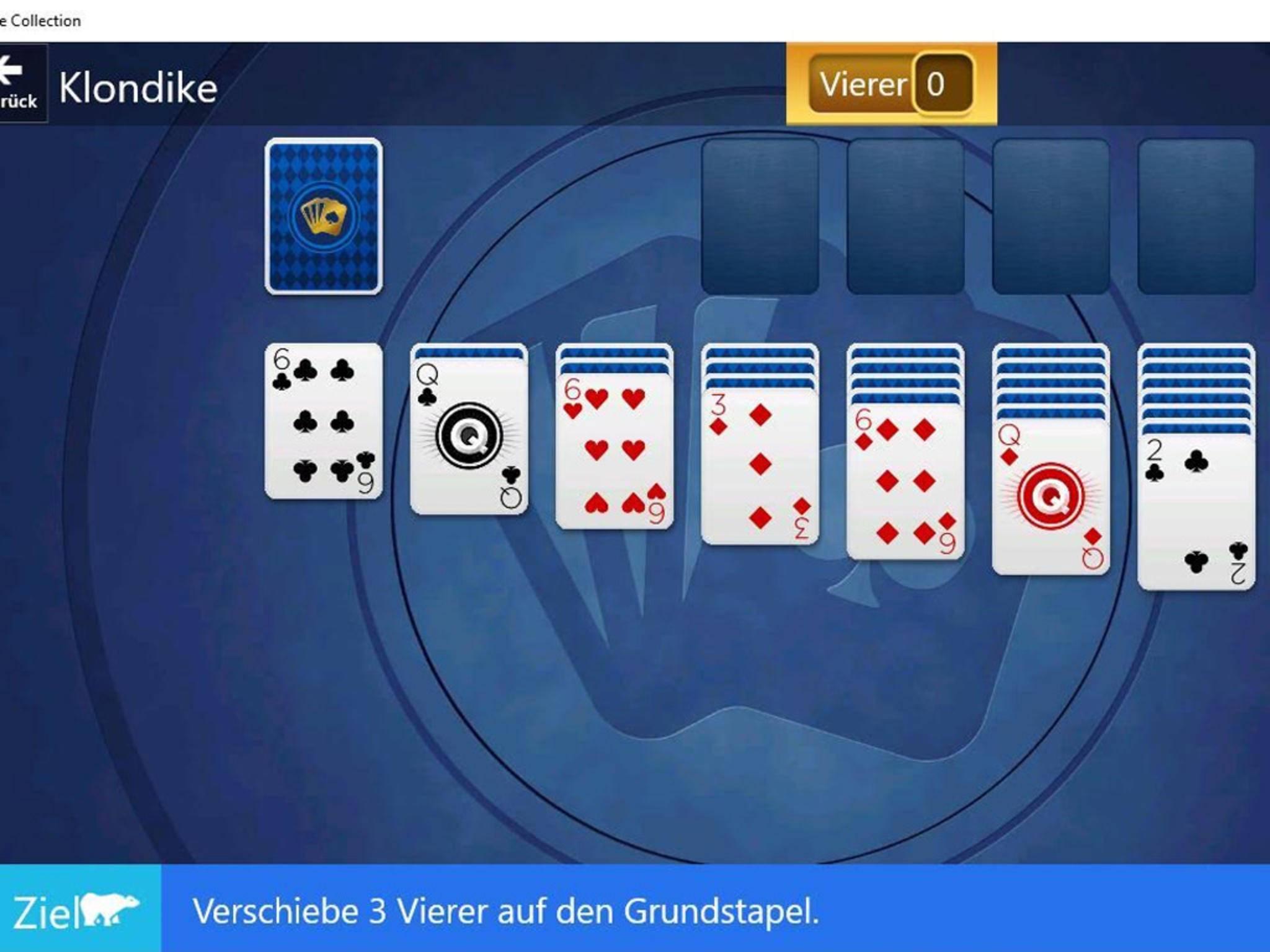 """Das Windows 10-Spiel """"Solitär"""" enthält Werbung, die Entfernung kostet."""