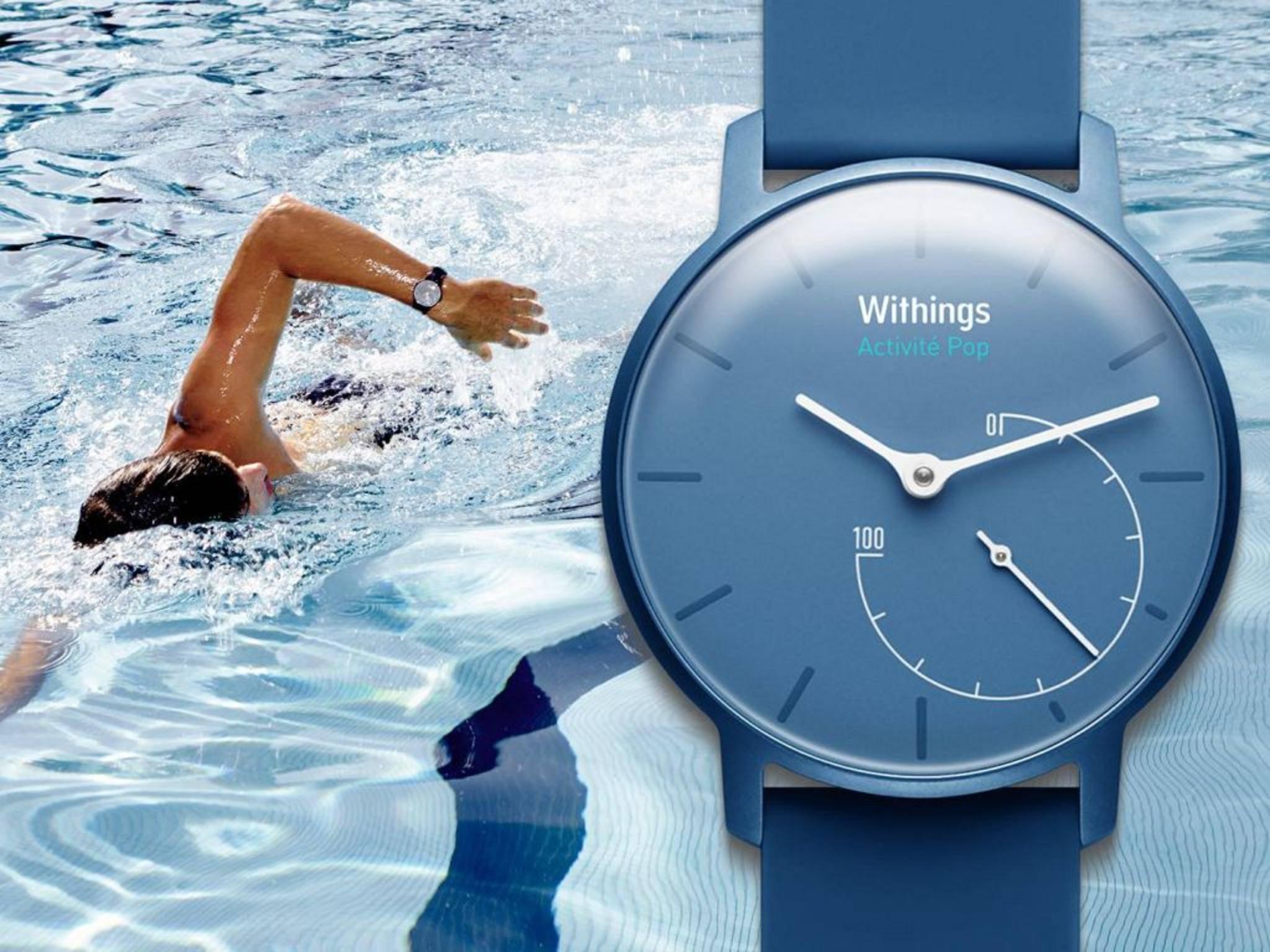 Die Withings Health Mate App erlaubt jetzt ach Schwimmtracking.