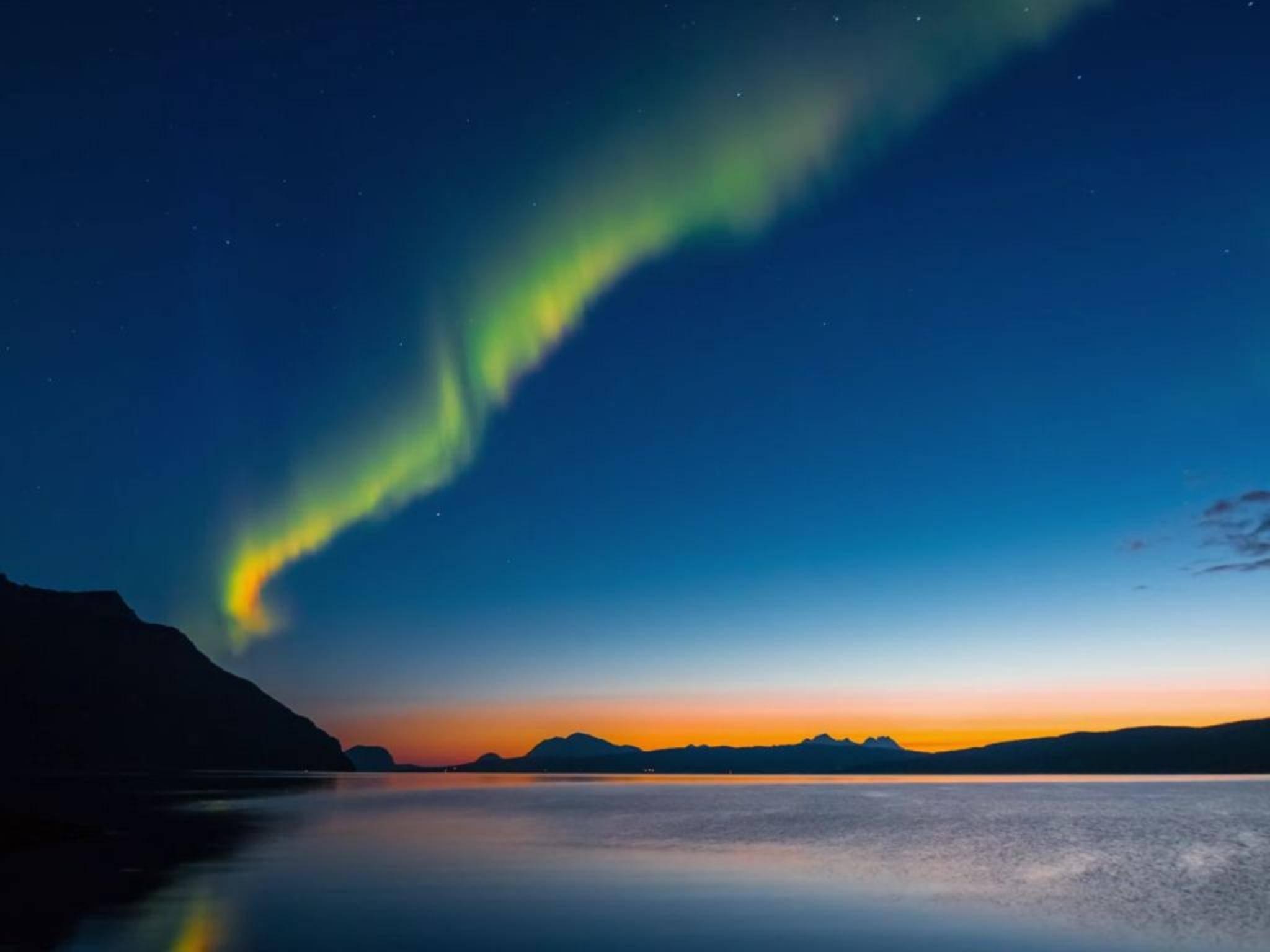 Polarlichter sind ein besonders spannendes Motiv für Zeitraffervideos.