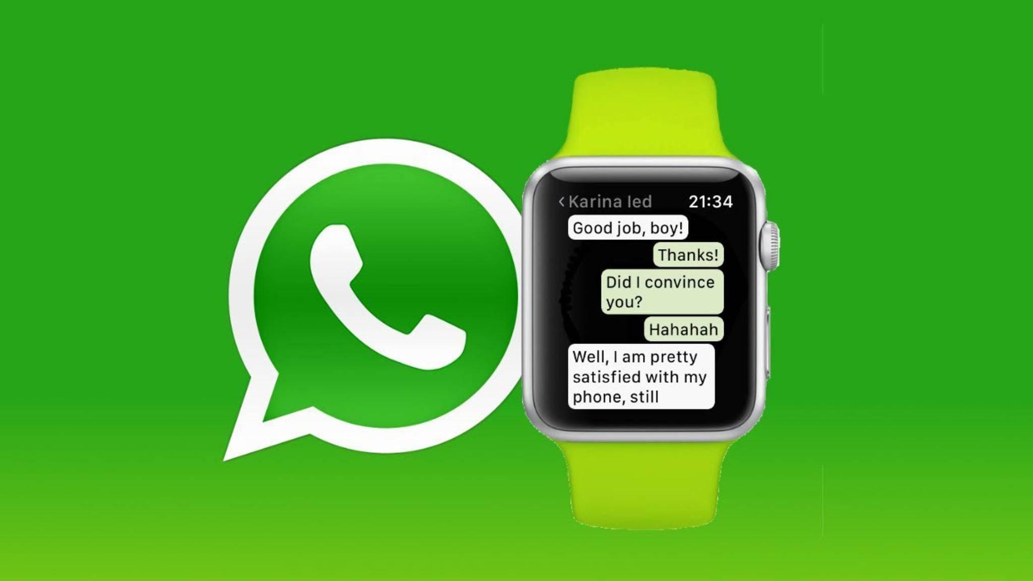 Eine spezielle App für die Apple Watch bietet WhatsApp zwar nicht, Nachrichten lassen sich dennoch empfangen.
