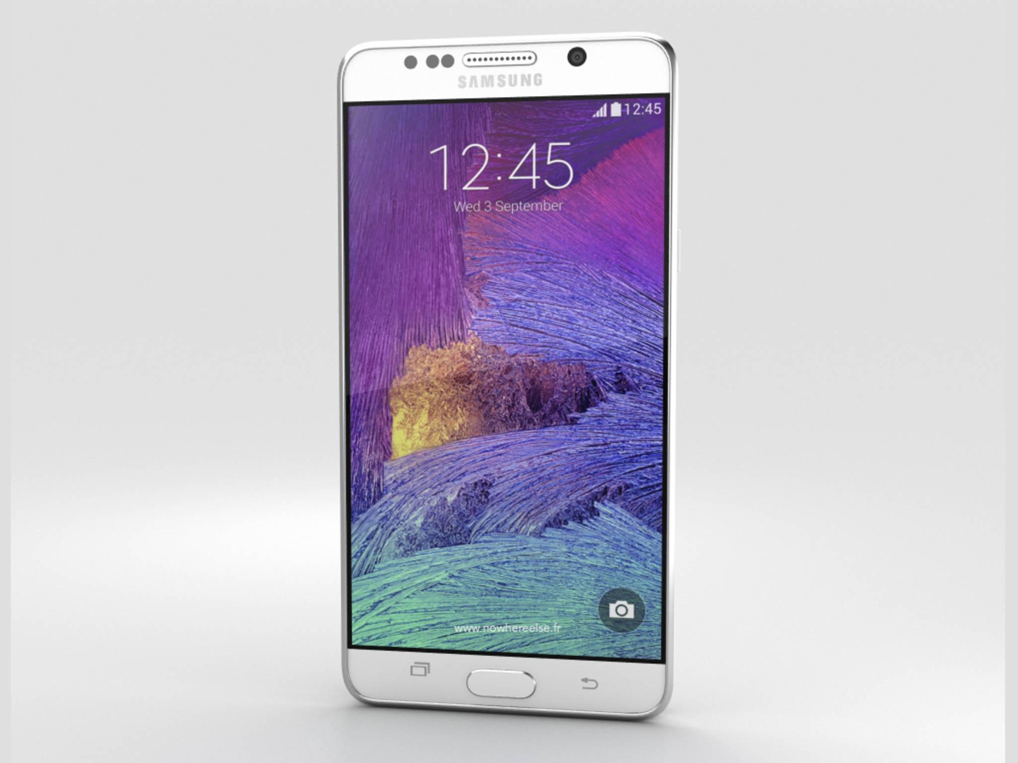 Wow-Effekt inklusive - so edel wird das Samsung Galaxy Note 5 vermutlich aussehen.
