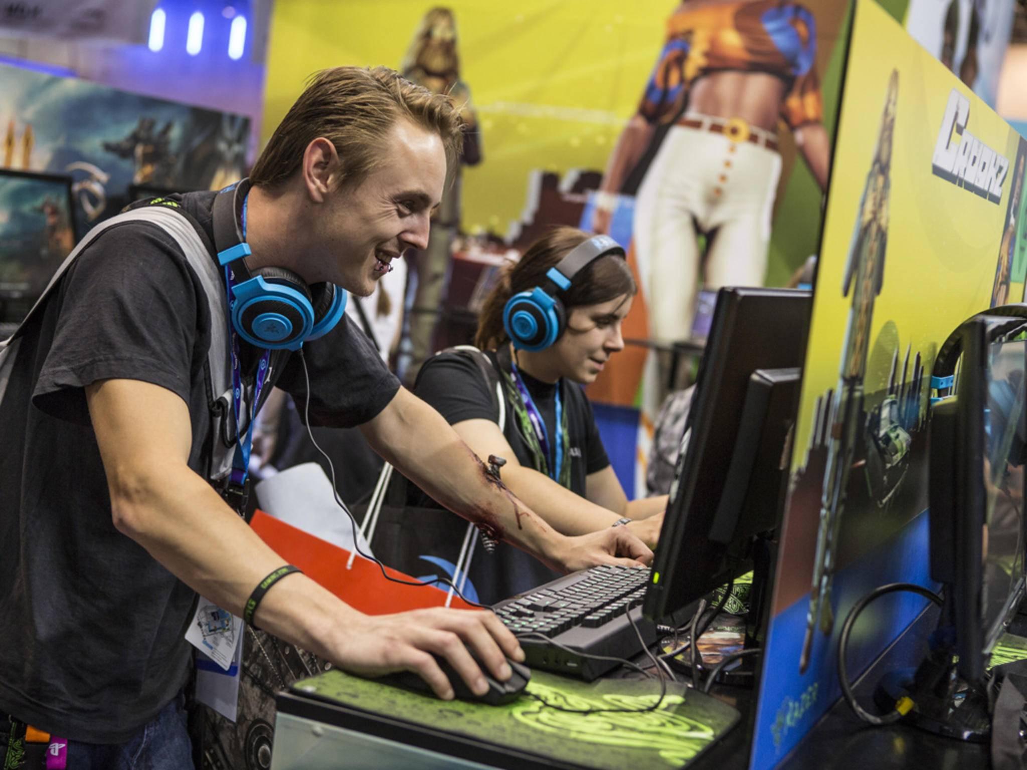 Auf der Gamescom können die Fans viele Spiele ausprobieren und antesten.