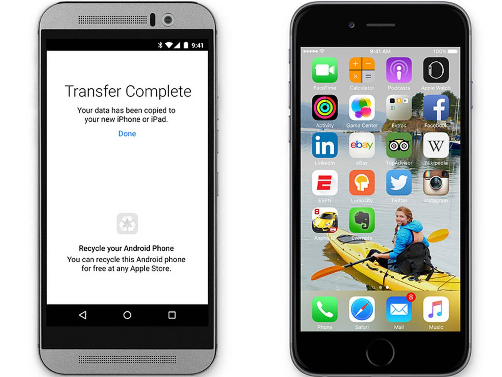 Mit der App Android Migration soll Android-Nutzern der Wechsel auf iOS erleichtert werden.