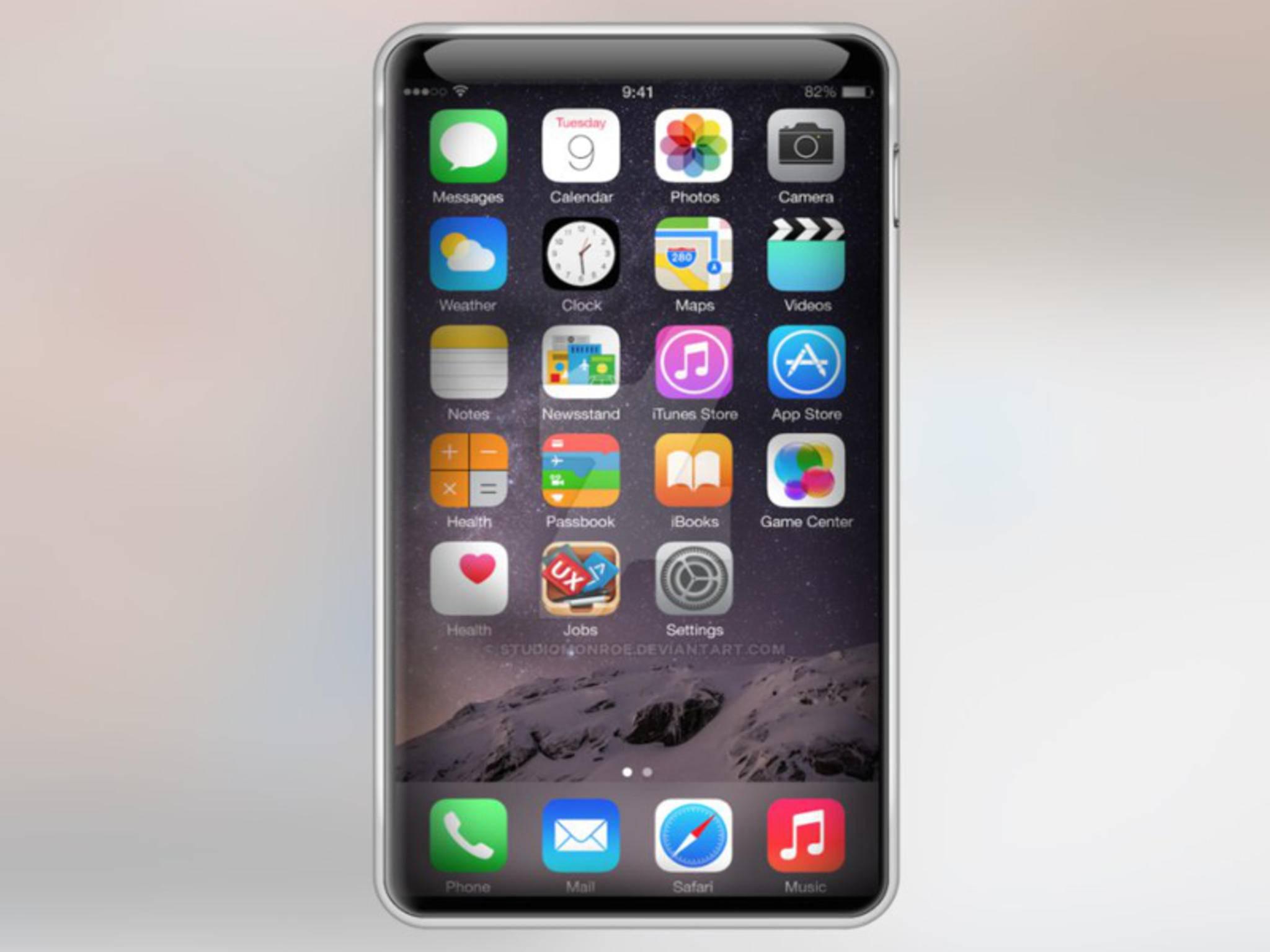 So stellt sich der Designer Studio Monroe das iPhone 7 ohne Home-Button vor.