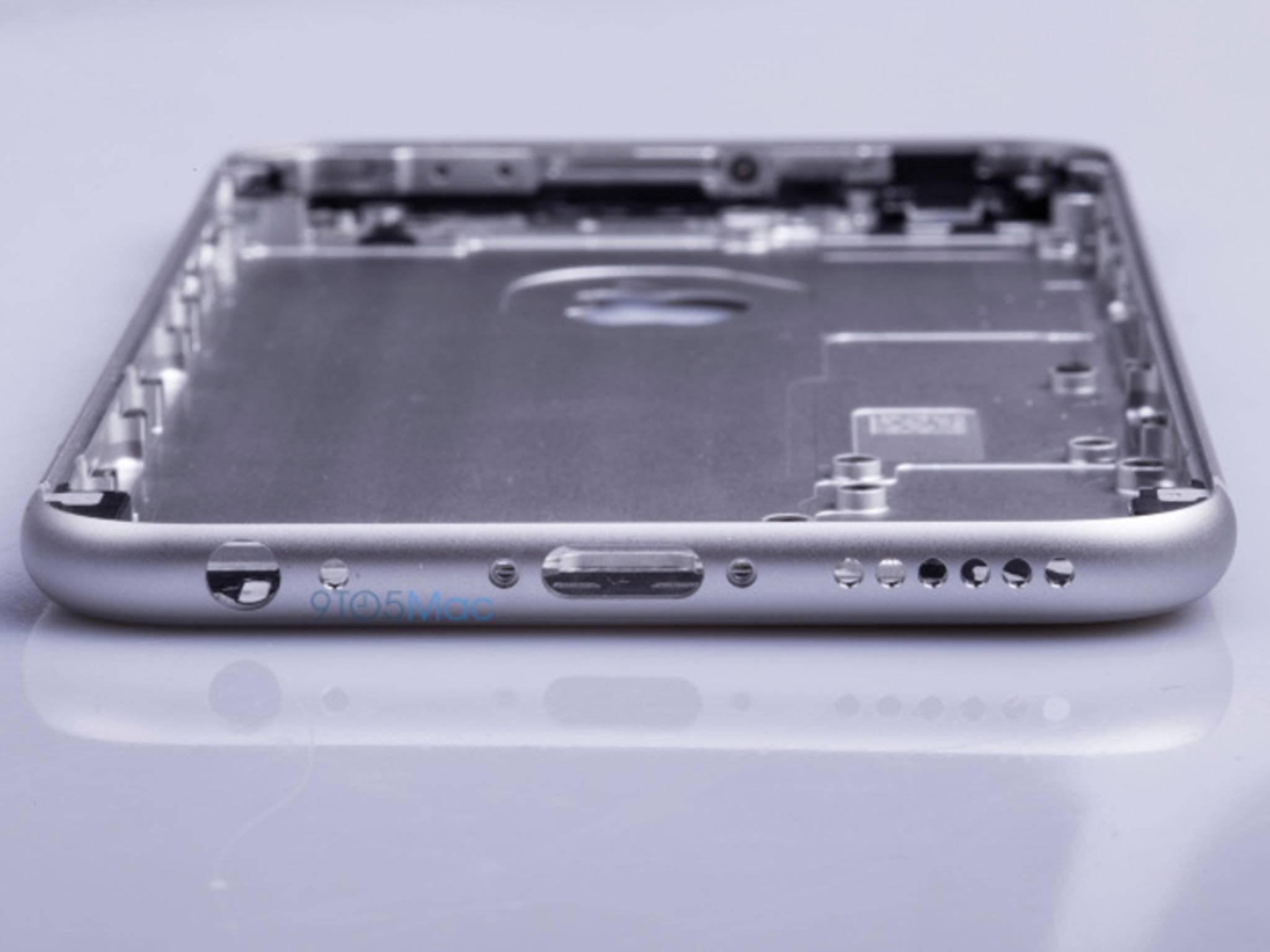 So soll das Metallgehäuse des iPhone 6s aussehen.