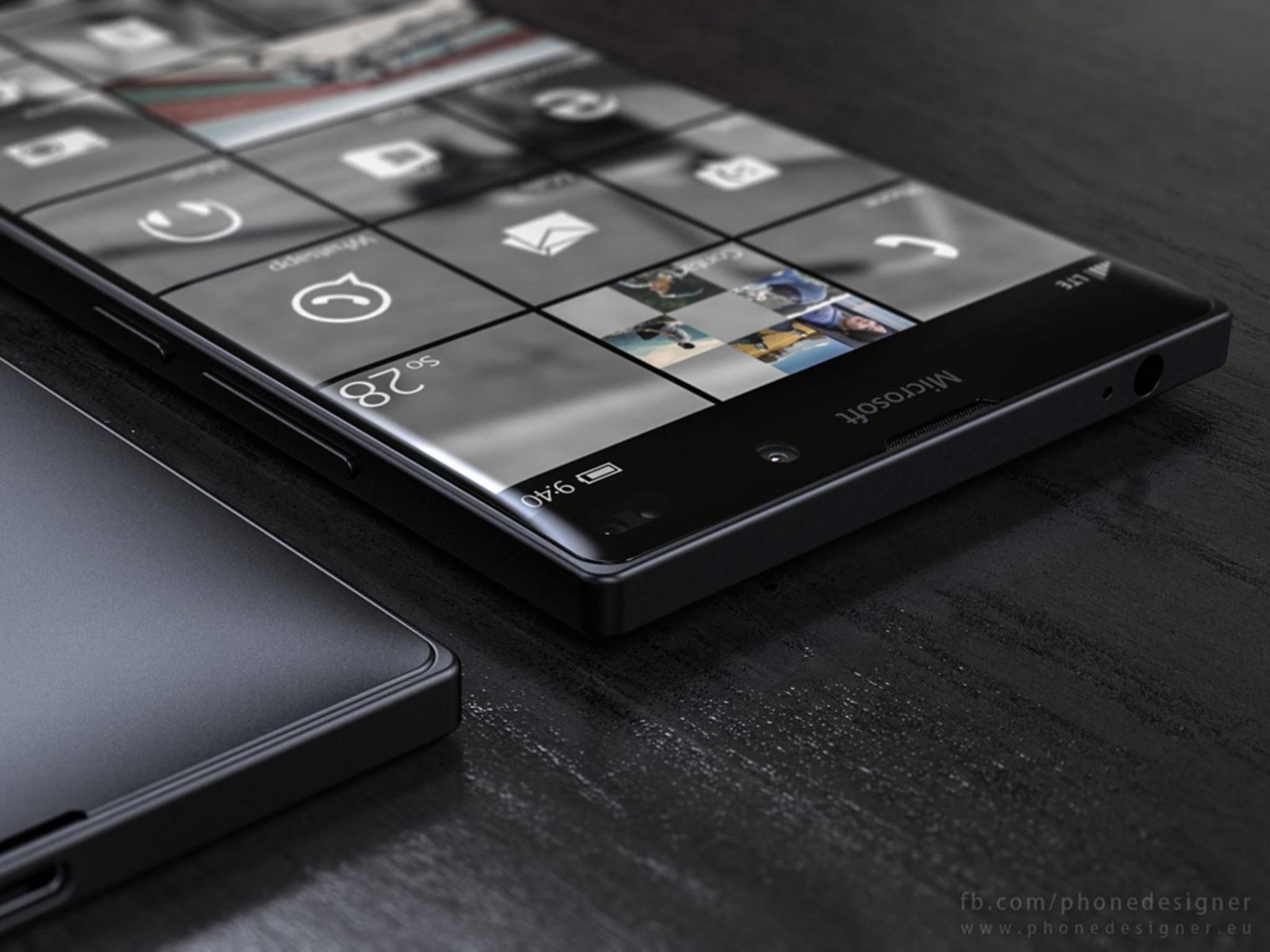 Eine Konzeptstudie des nächsten Lumia-Smartphonmes: Das Gerät wird sich mit Tastatur und Maus steuern lassen.