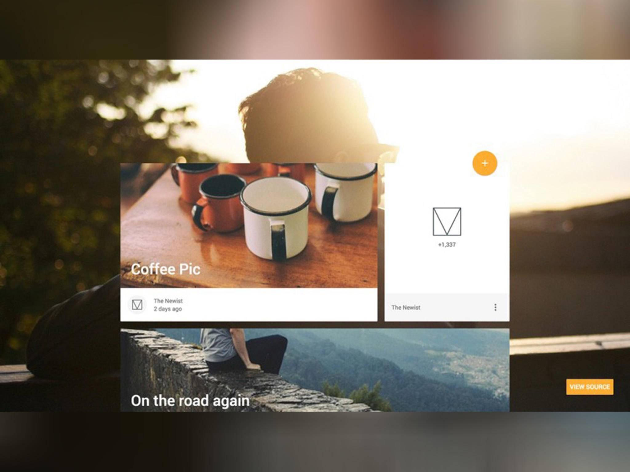 Material Design Lite ist geeignet für bildlastige Webseiten ...