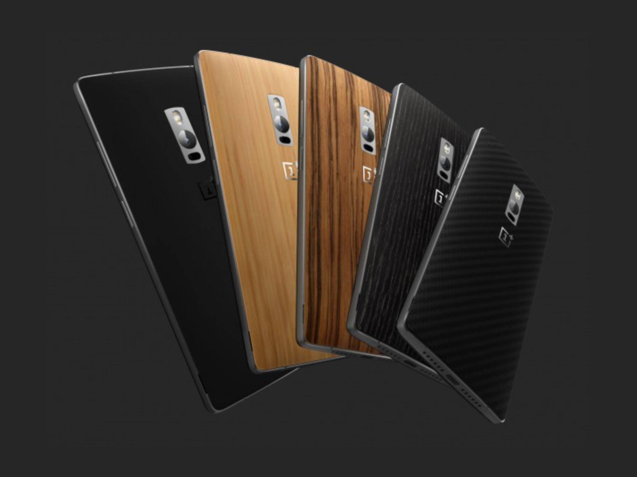 Für das OnePlus 2 stehen insgesamt fünf Rückseiten zur Verfügung.